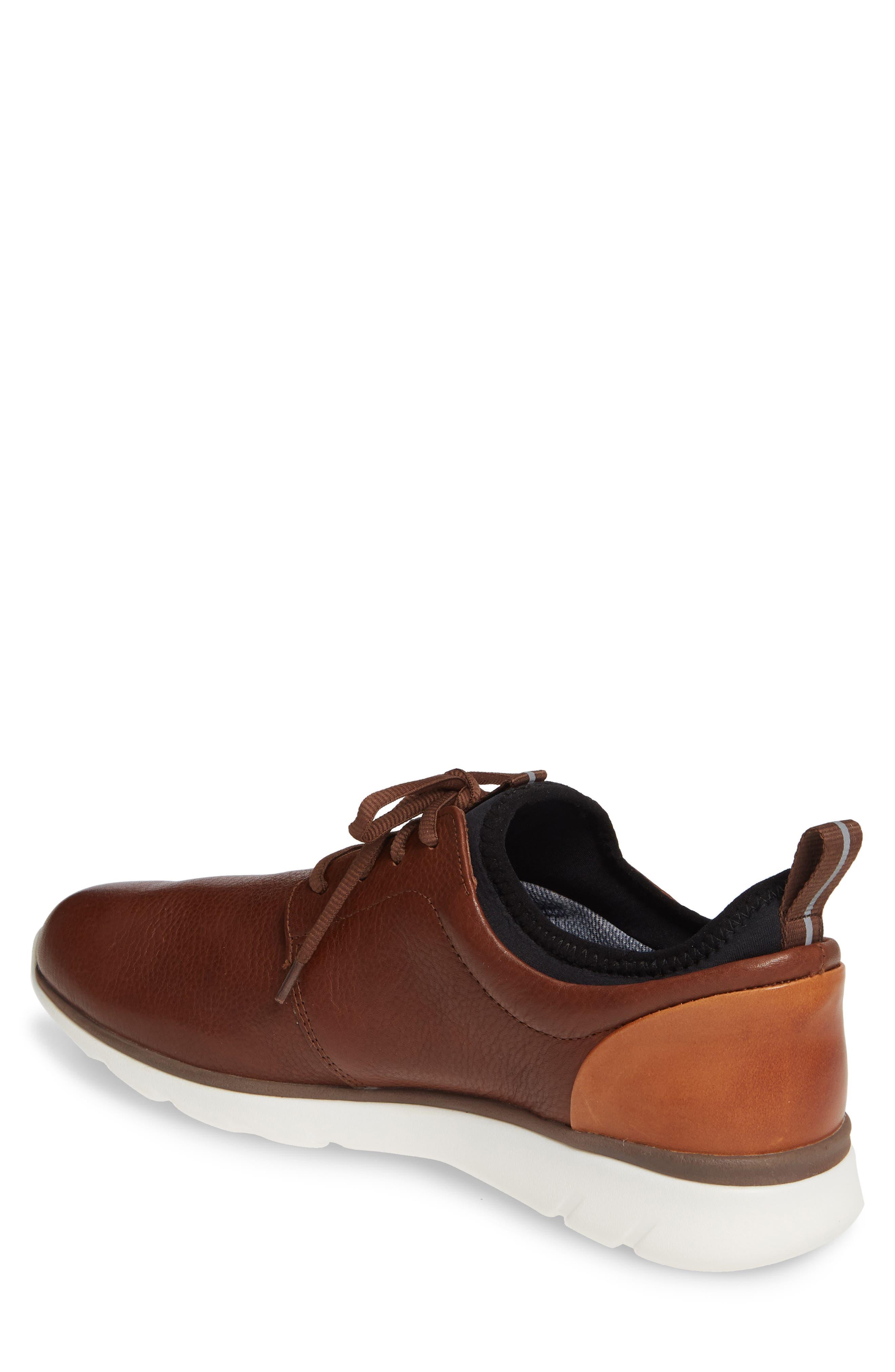 JOHNSTON & MURPHY, Prentiss XC4<sup>®</sup> Waterproof Low Top Sneaker, Alternate thumbnail 2, color, MAHOGANY LEATHER