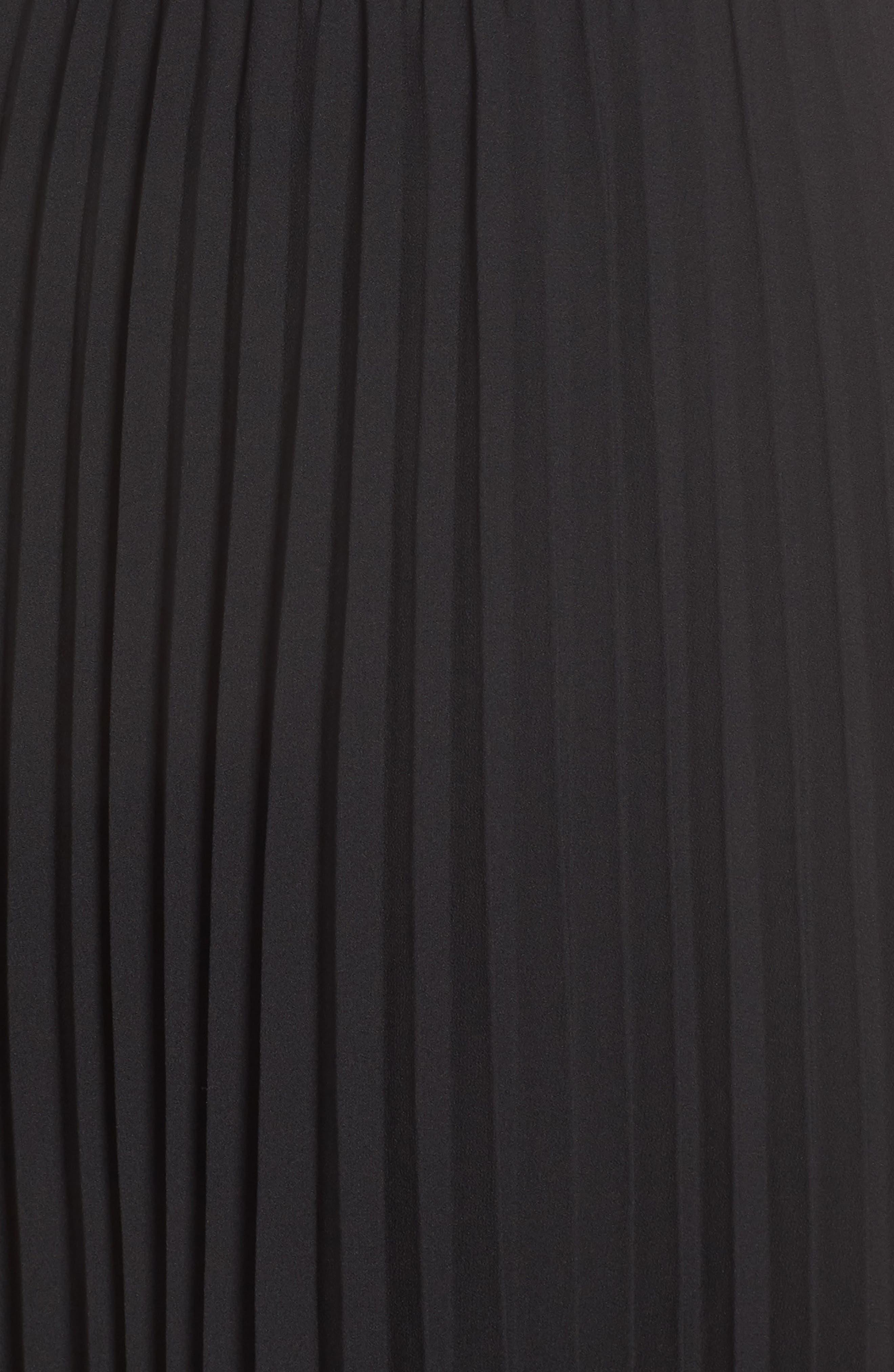 ALI & JAY, Angles Flight Chiffon Fit & Flare Dress, Alternate thumbnail 6, color, BLACK