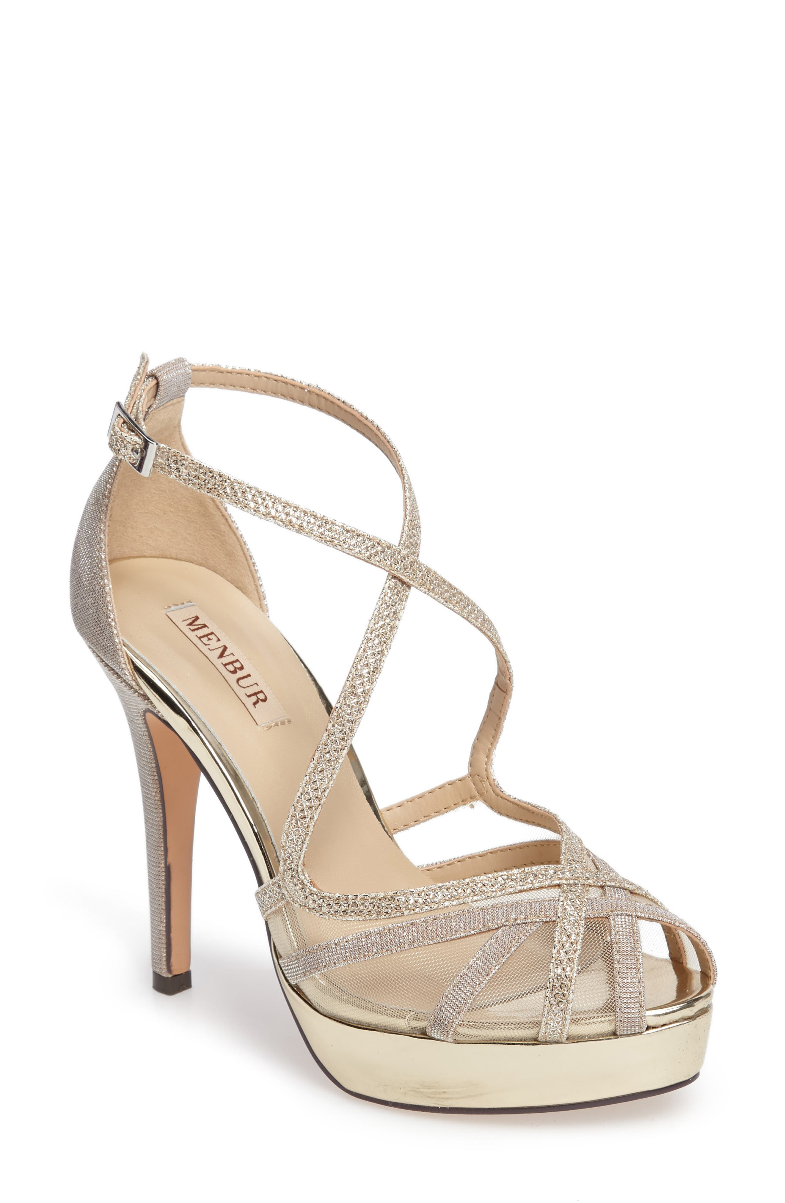 MENBUR Rosa Platform Evening Sandal, Main, color, 021