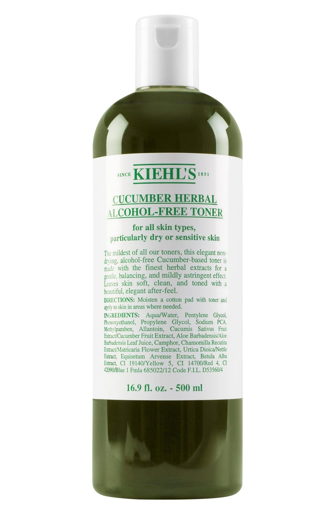 KIEHL'S SINCE 1851, Cucumber Herbal Alcohol-Free Toner, Alternate thumbnail 2, color, NO COLOR