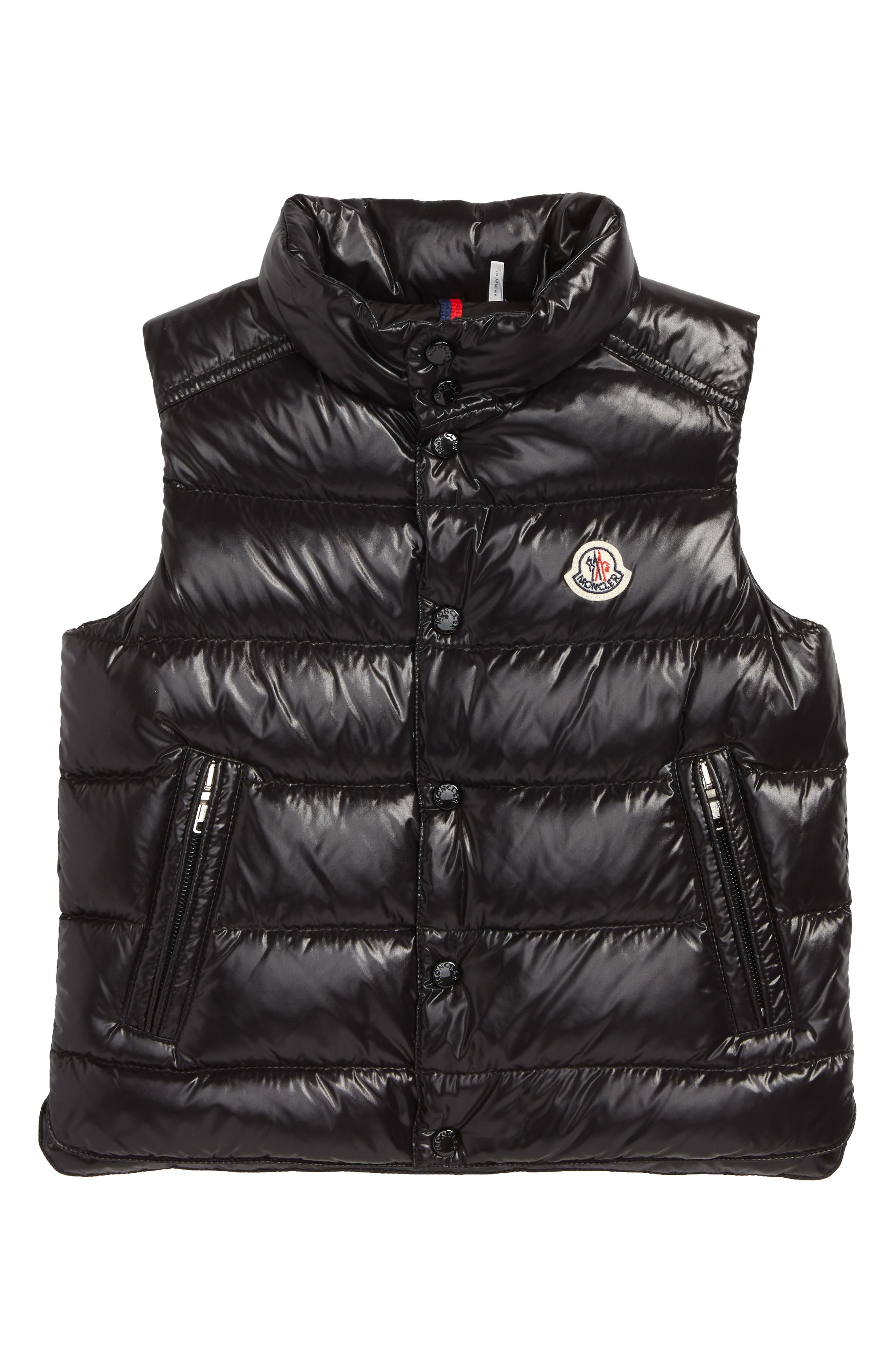 MONCLER, Tib Down Vest, Main thumbnail 1, color, BLACK