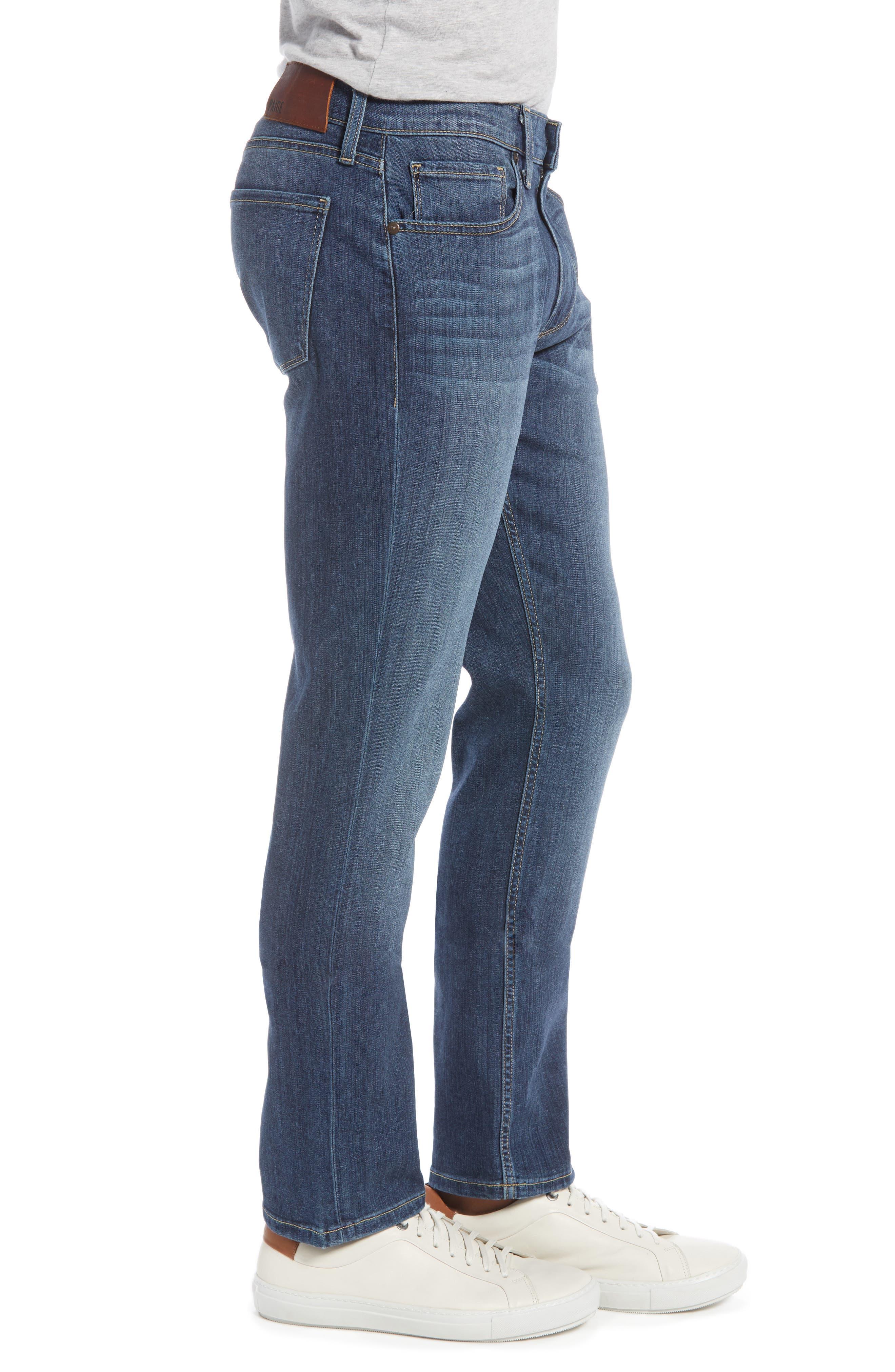 PAIGE, Transcend - Federal Slim Straight Leg Jeans, Alternate thumbnail 5, color, BIRCH