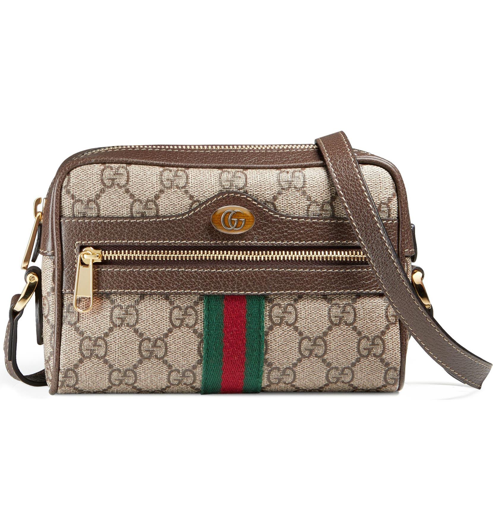 86bf774506a Gucci Ophidia Small GG Supreme Canvas Crossbody Bag