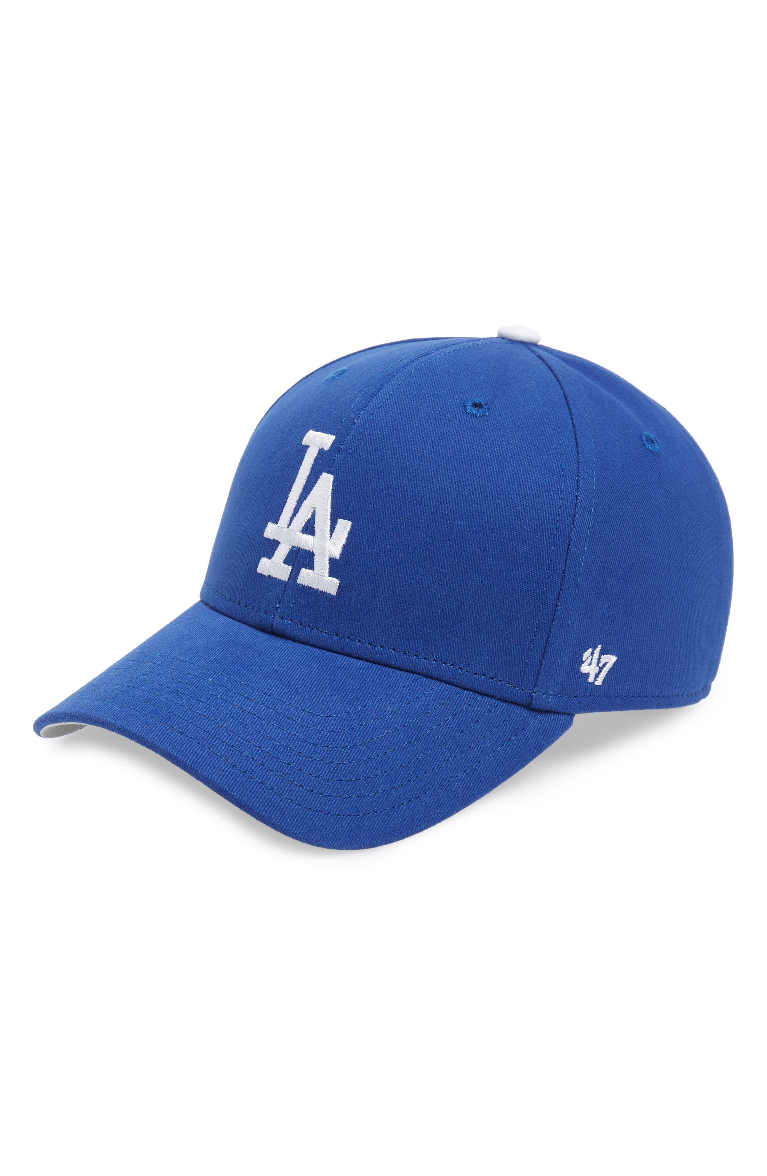 '47 Los Angeles Dodgers Baseball Cap, Main, color, BLUE
