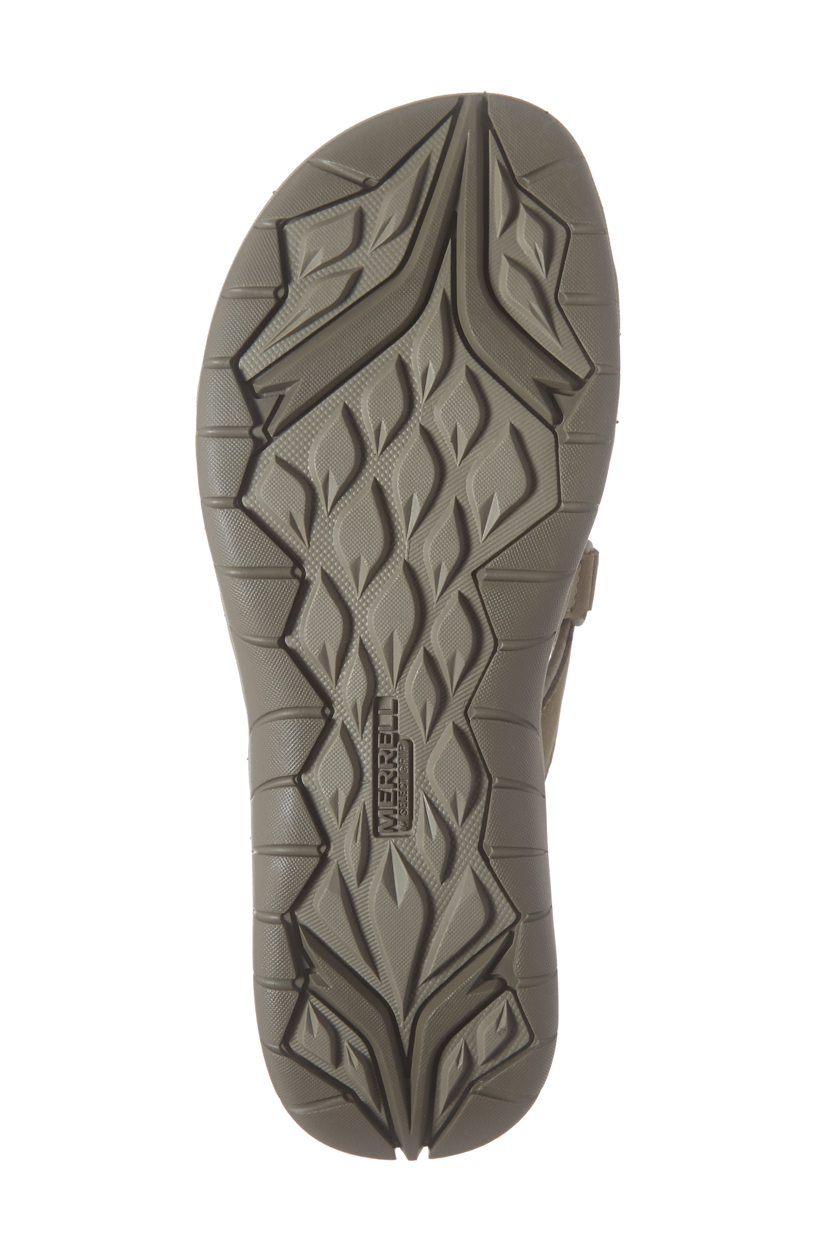 MERRELL, Siren Flip Q2 Waterproof Sandal, Alternate thumbnail 6, color, BRINDLE FABRIC