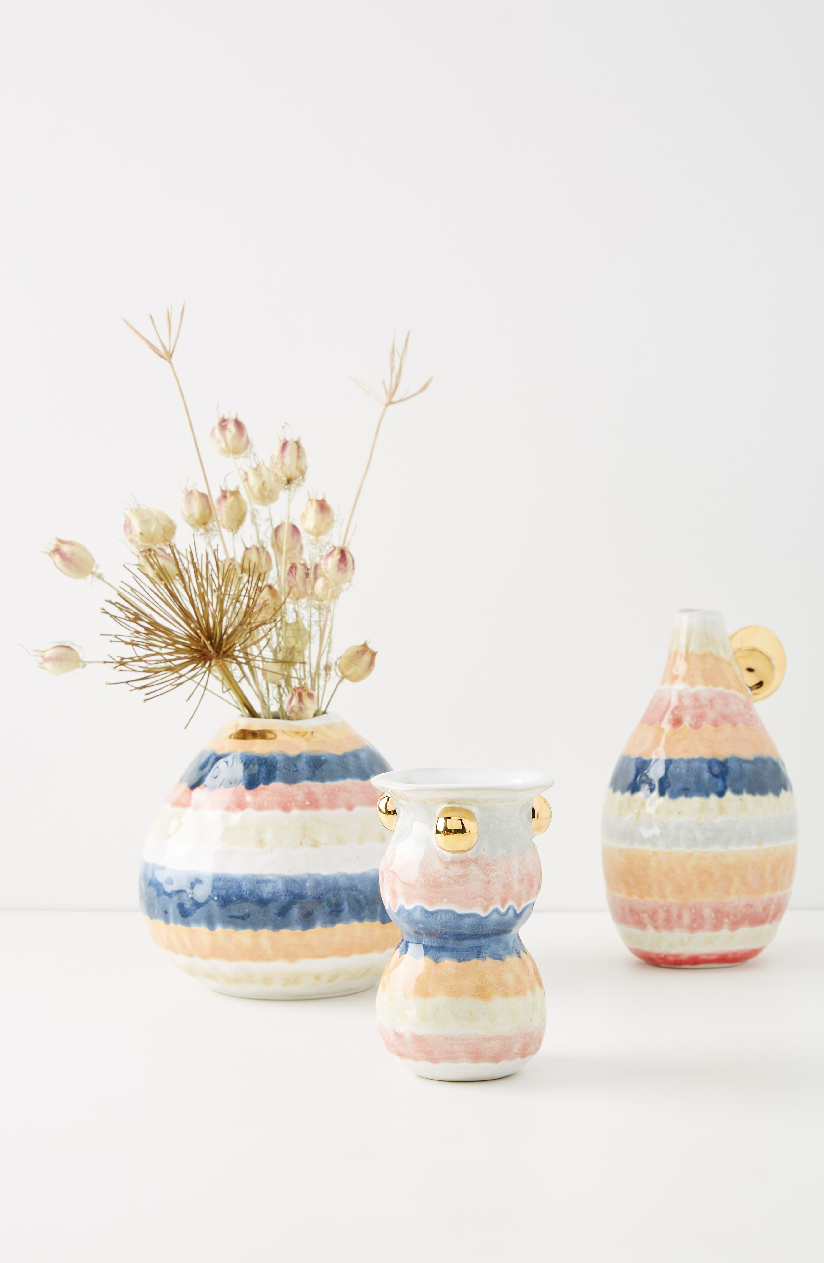 ANTHROPOLOGIE, Object Enthusiast Vase, Alternate thumbnail 3, color, MULTI-SMALL