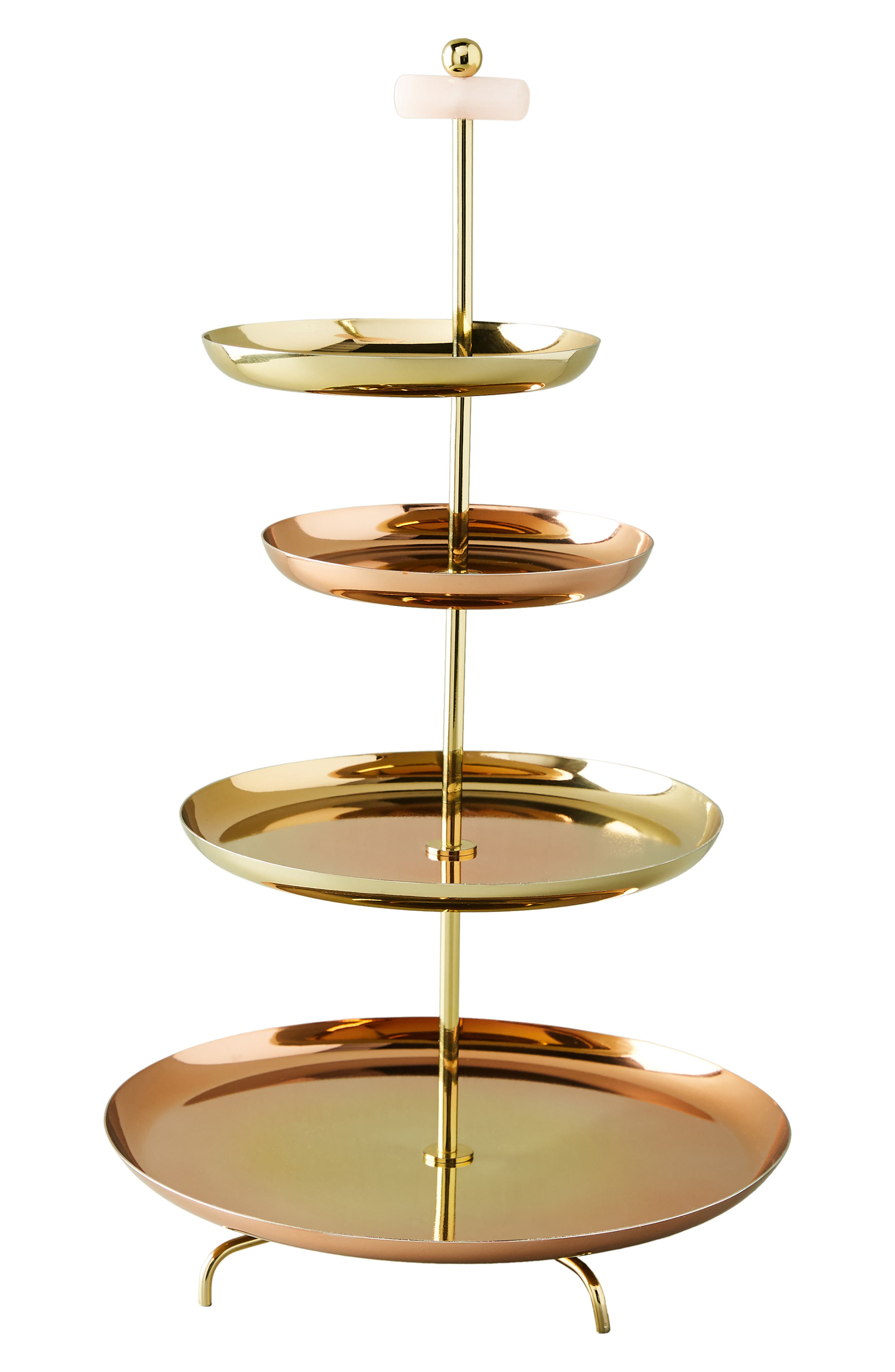 ANTHROPOLOGIE, Glam Cookie Stand, Alternate thumbnail 4, color, FLAME