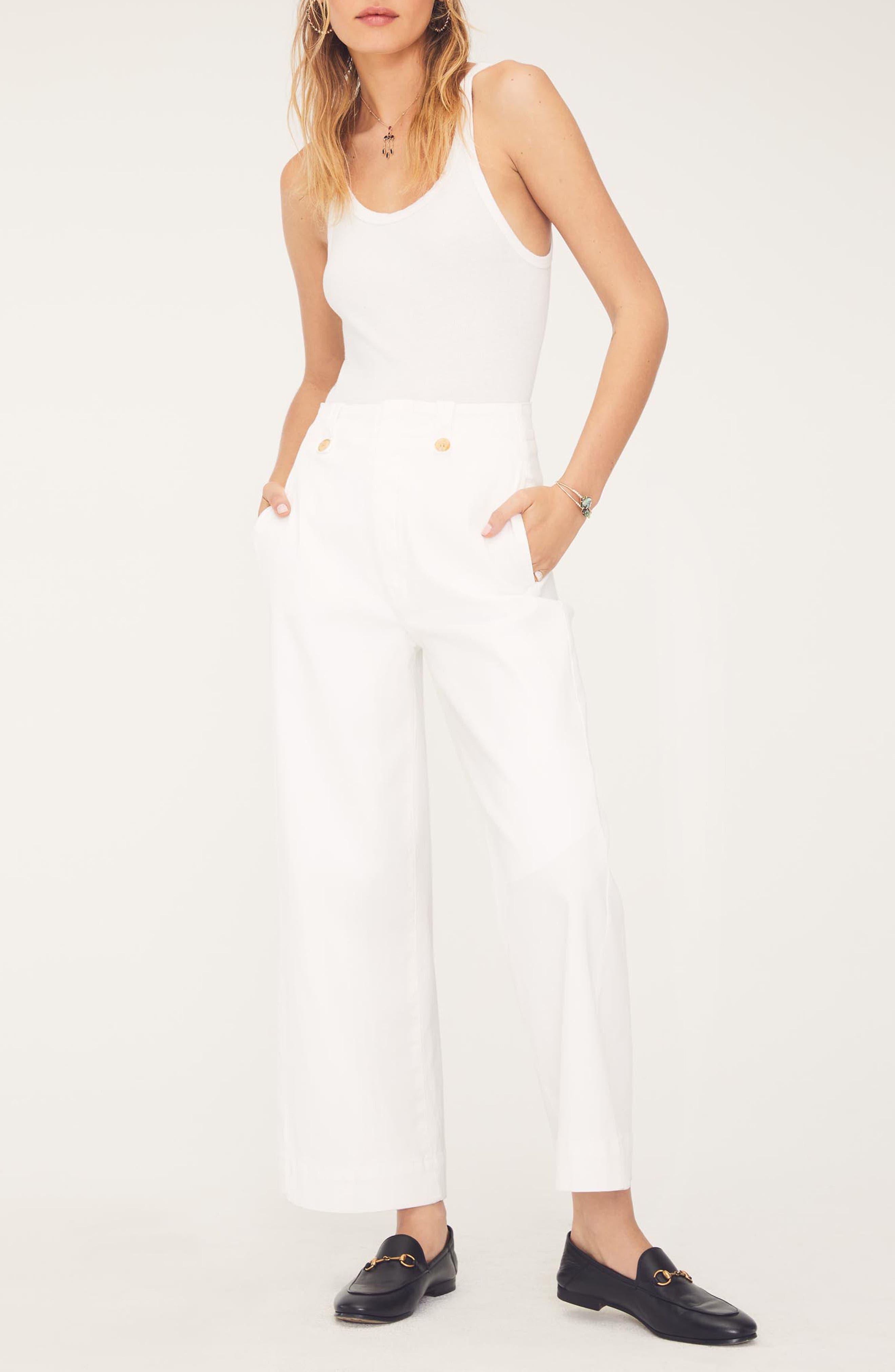 MOTHER, The Greaser Crop Wide Leg Jeans, Alternate thumbnail 6, color, GLASS SLIPPER