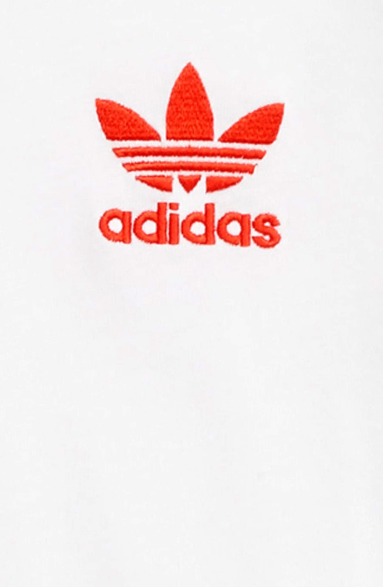 ADIDAS ORIGINALS, adidas Trefoil Tee, Alternate thumbnail 3, color, WHITE