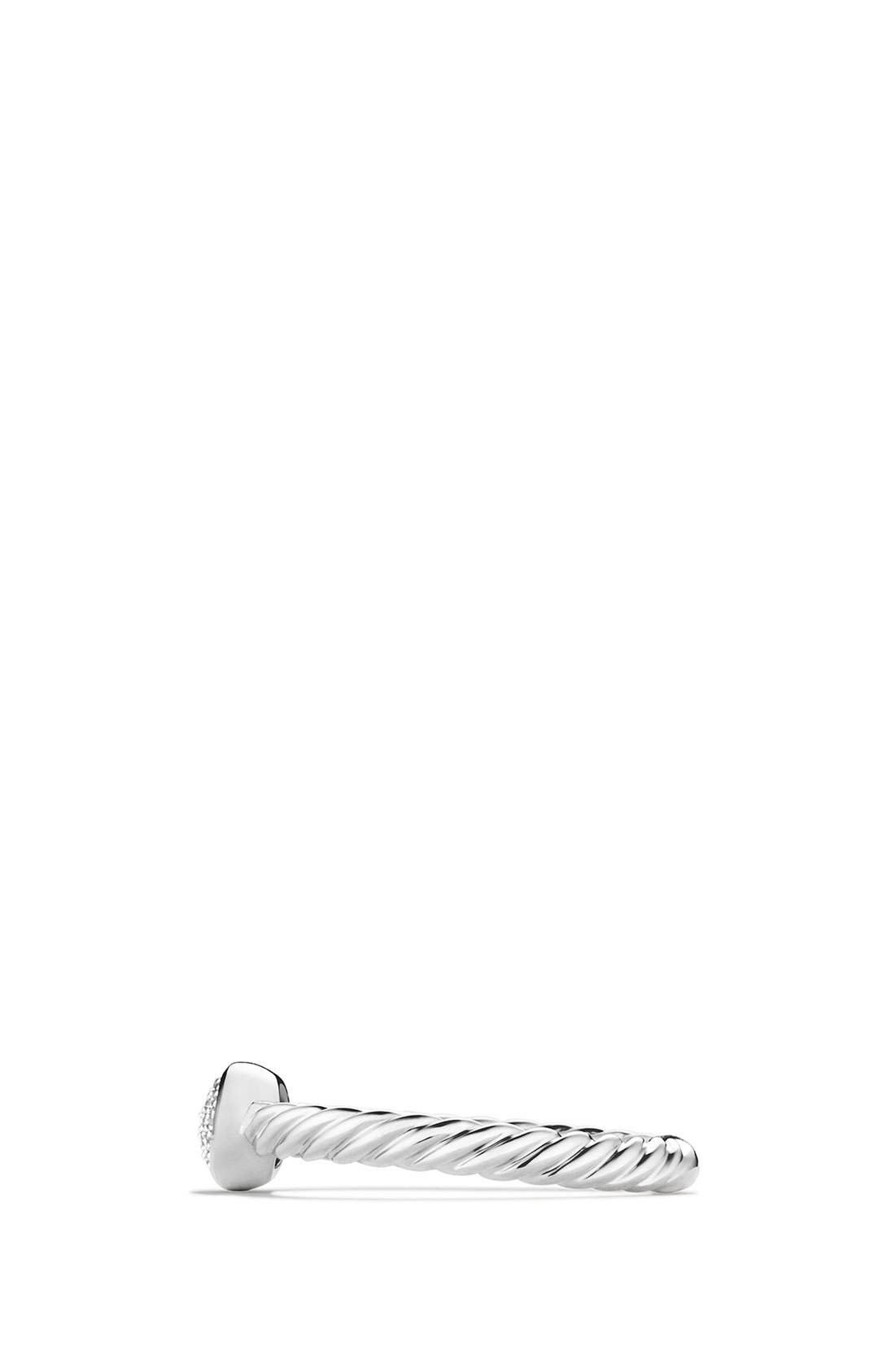 DAVID YURMAN, 'Cable Collectibles' Oval Ring with Diamonds, Alternate thumbnail 5, color, DIAMOND