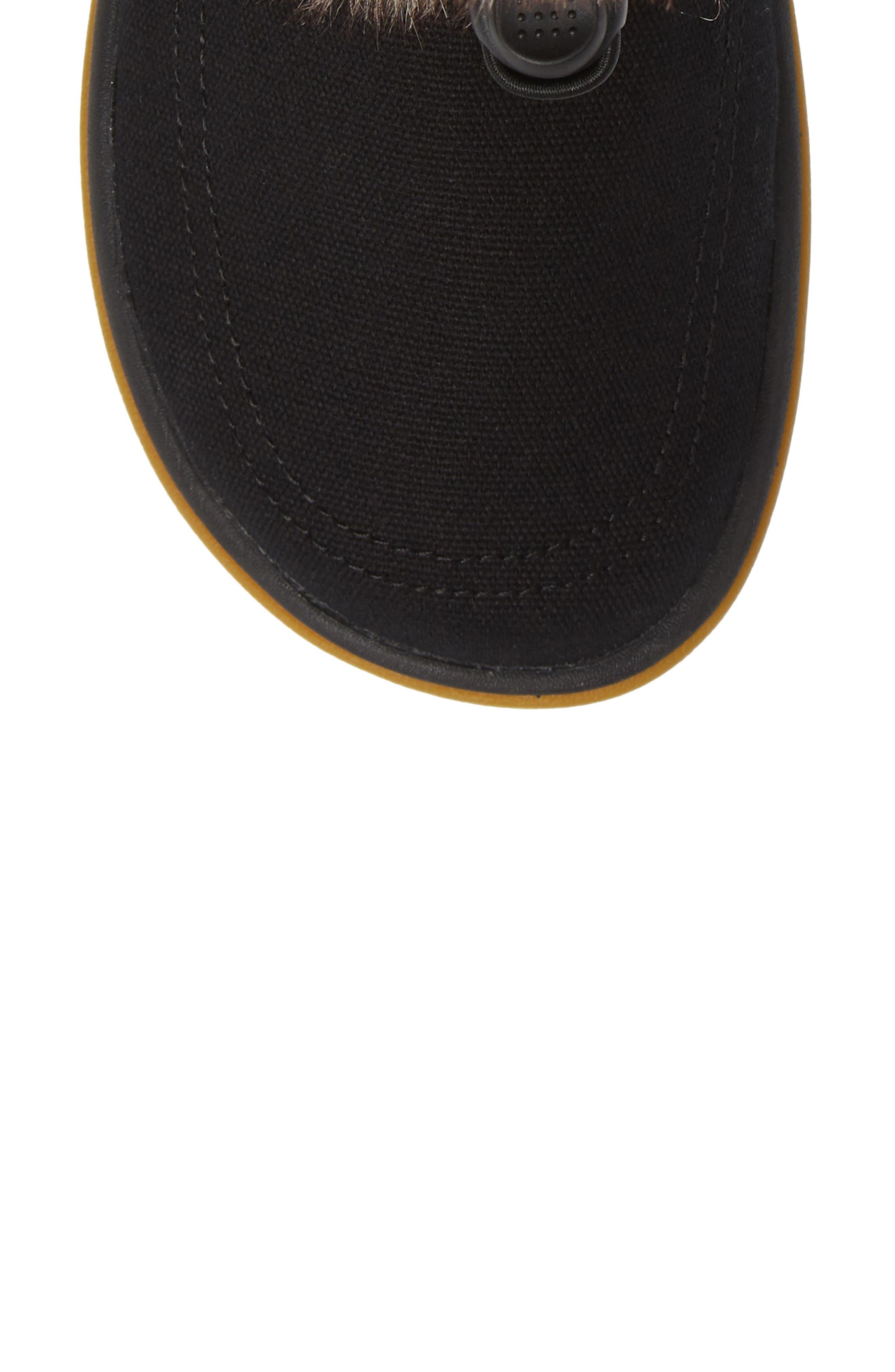 SANUK, Tripper Flurry Faux Fur Boot, Alternate thumbnail 5, color, BLACK