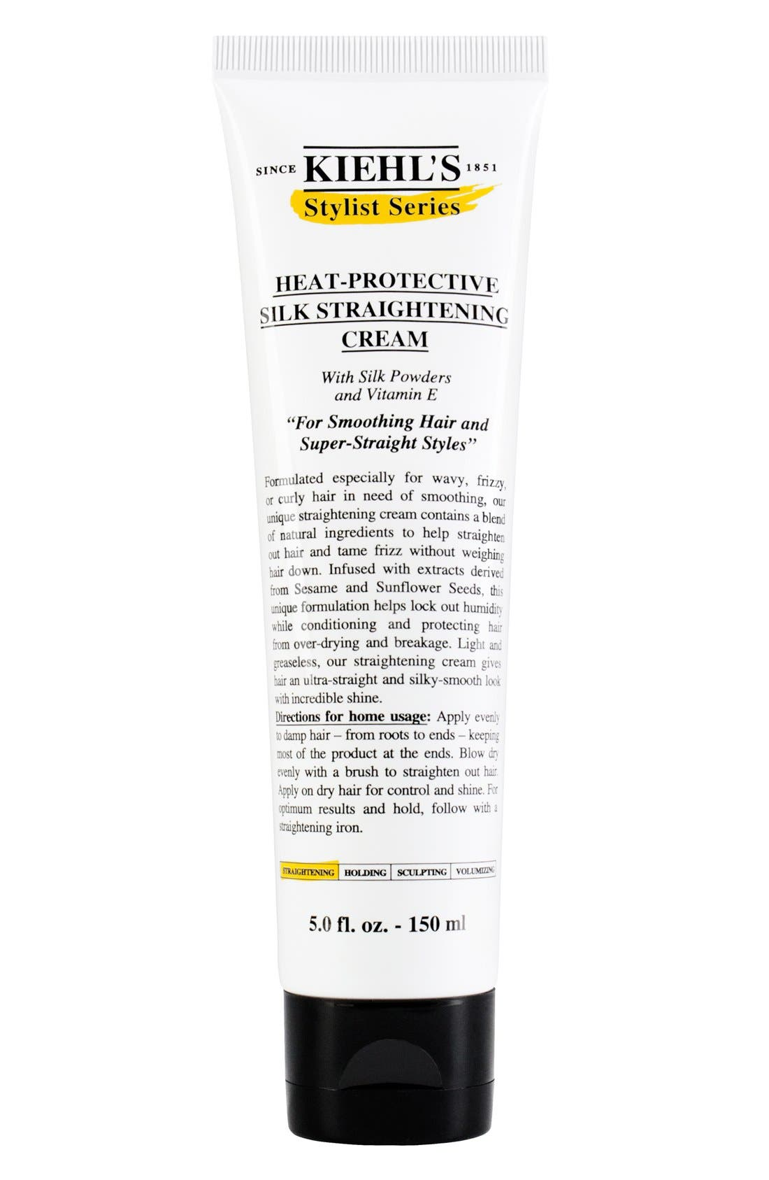 KIEHL'S SINCE 1851, Heat-Protective Silk Straightening Cream, Main thumbnail 1, color, NO COLOR