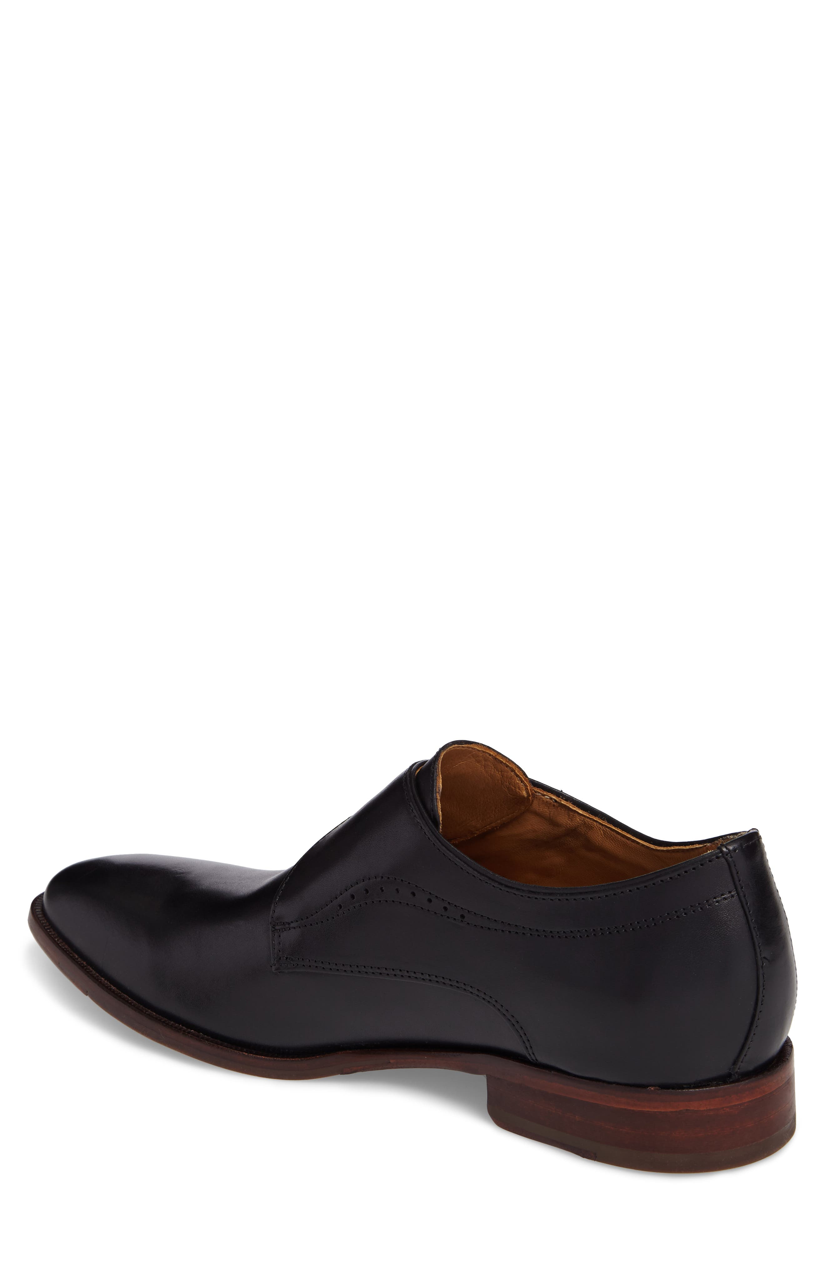 JOHNSTON & MURPHY, McClain Monk Strap Shoe, Alternate thumbnail 2, color, BLACK