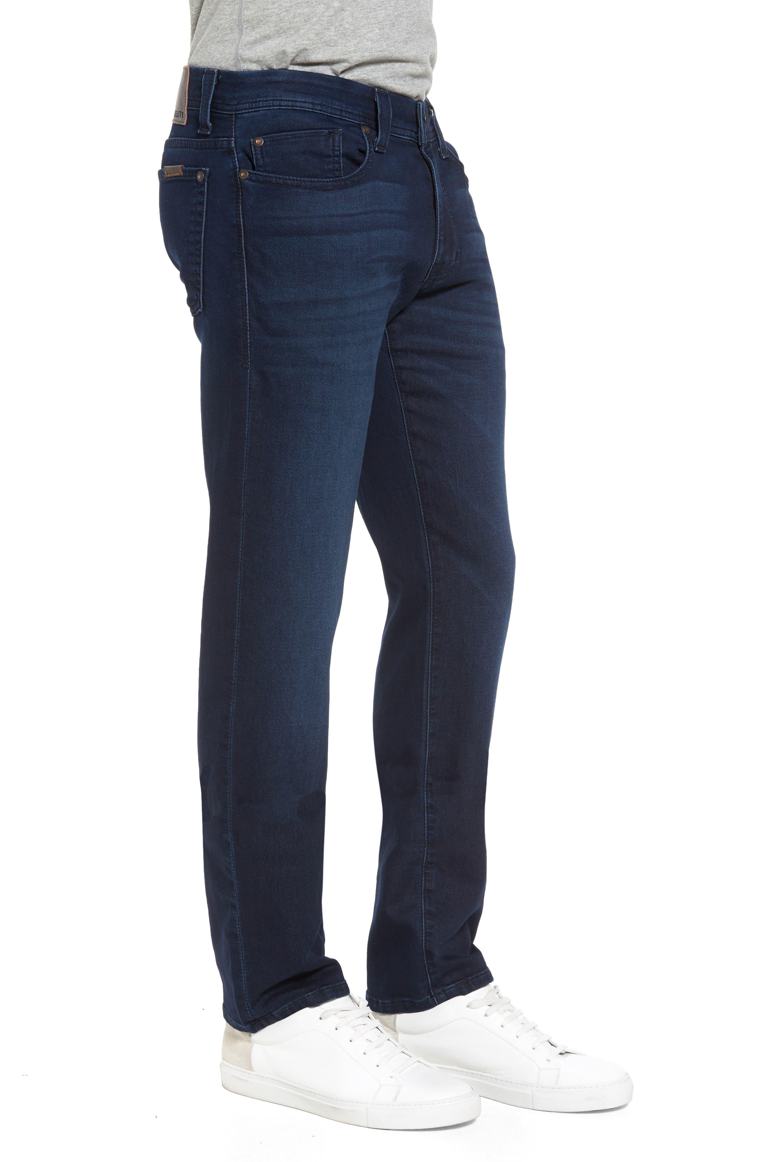 FIDELITY DENIM, Jimmy Slim Straight Leg Jeans, Alternate thumbnail 3, color, 400
