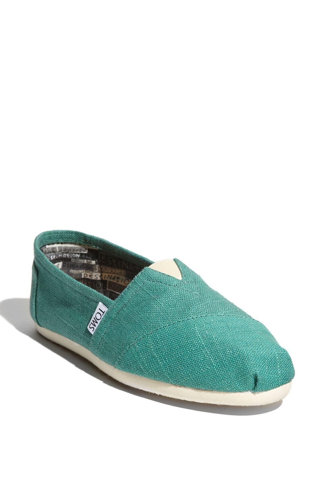 TOMS 'Classic' Linen Slip-On, Main, color, 330