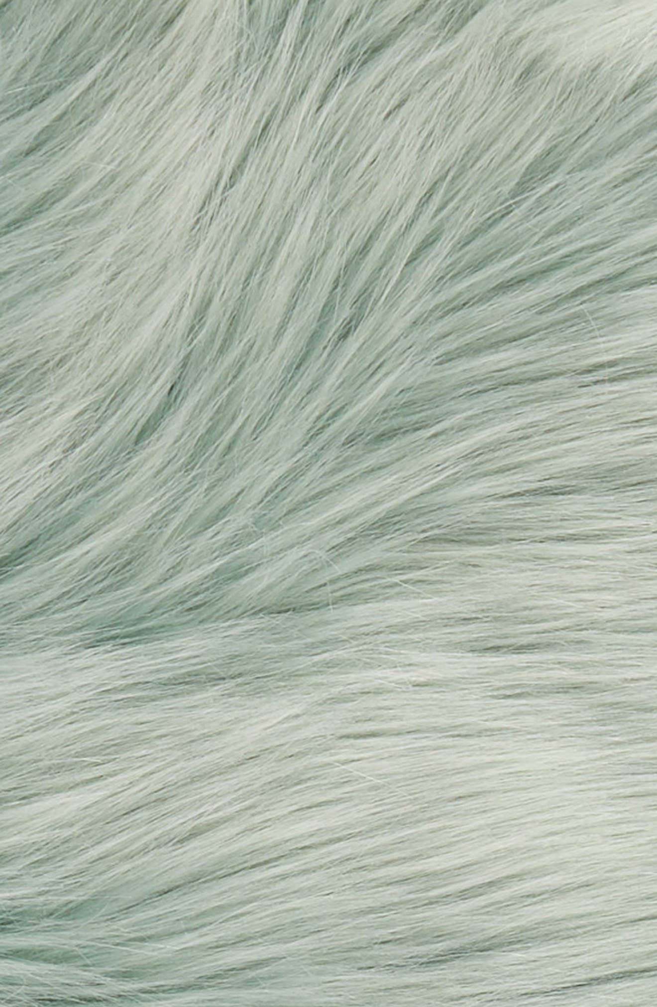 NORDSTROM AT HOME, Faux Fur Throw, Alternate thumbnail 2, color, TEAL STEAM
