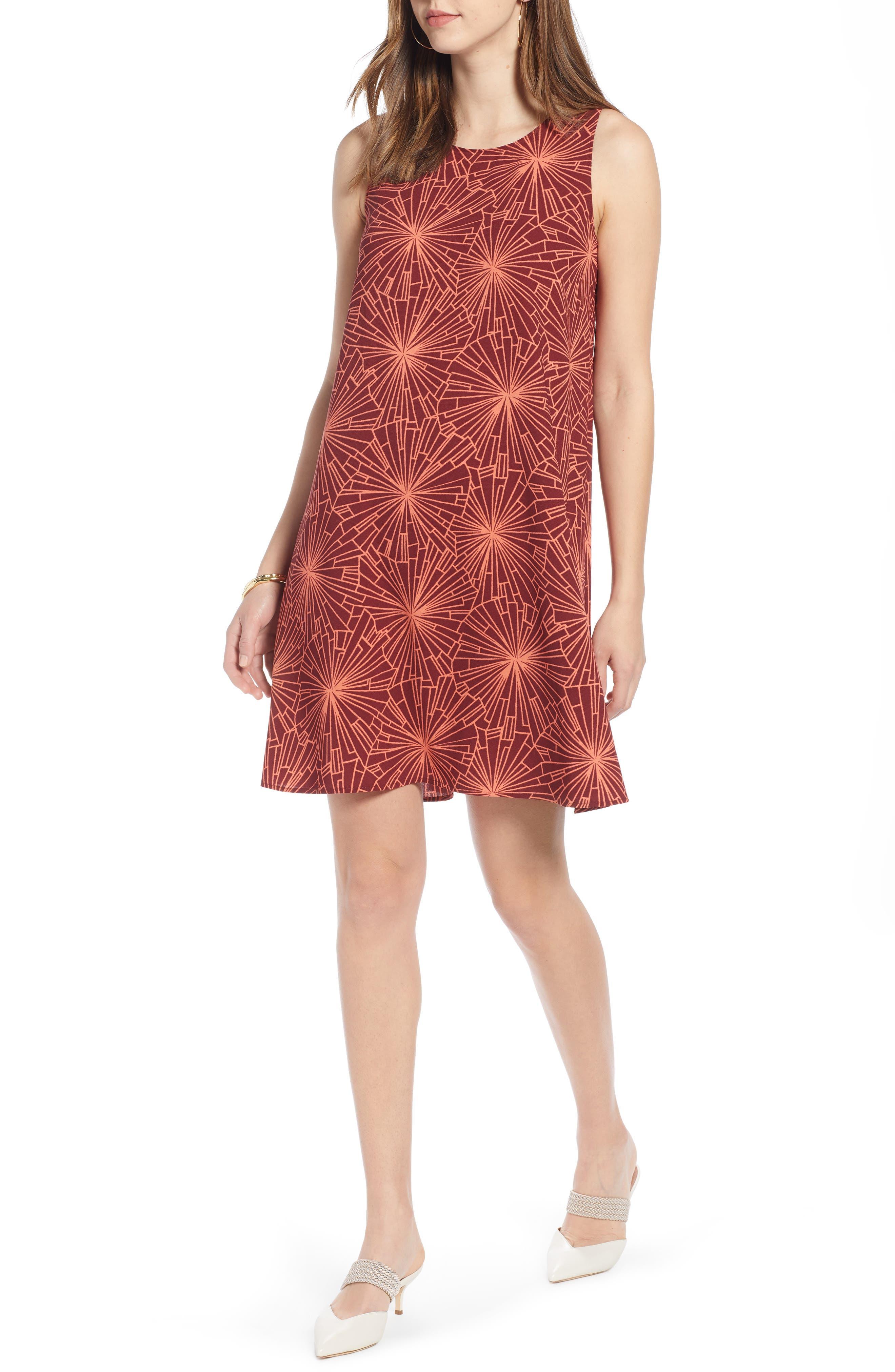 Halogen A-Line Dress, Burgundy