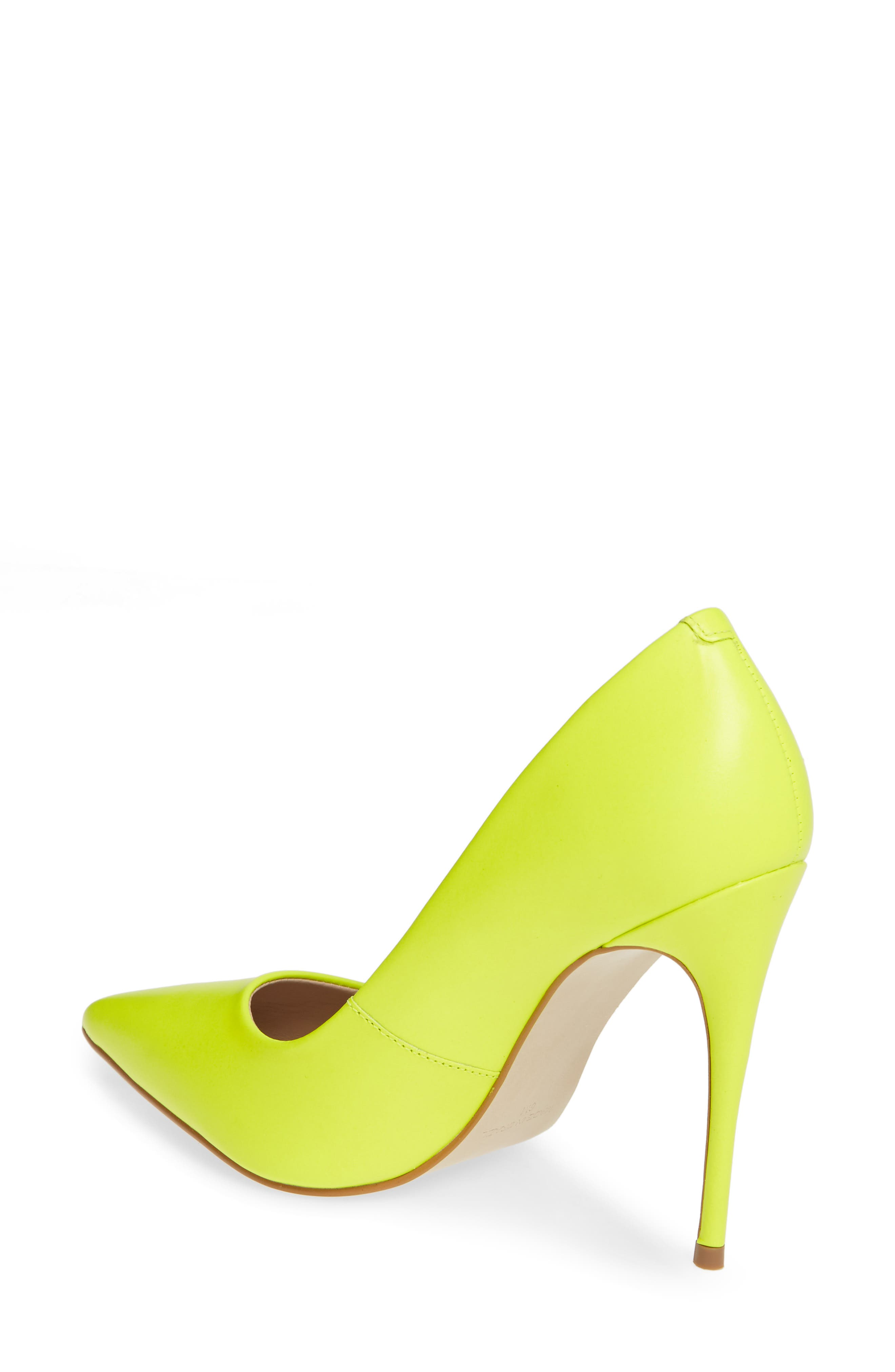 STEVE MADDEN, Daisie Pointy-Toe Pump, Alternate thumbnail 2, color, LIME