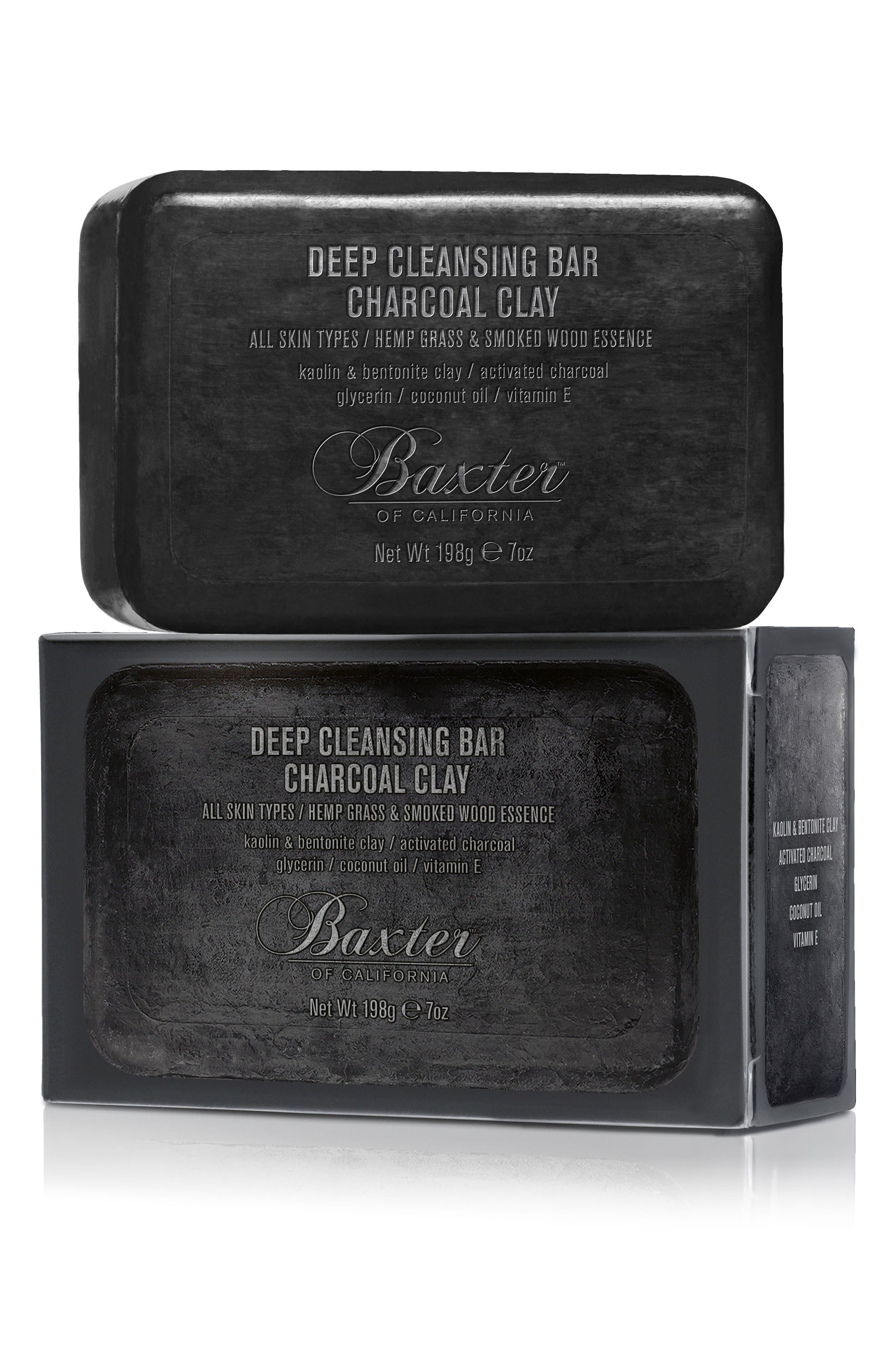 BAXTER OF CALIFORNIA, Deep Cleansing Charcoal Clay Bar Soap, Main thumbnail 1, color, NO COLOR