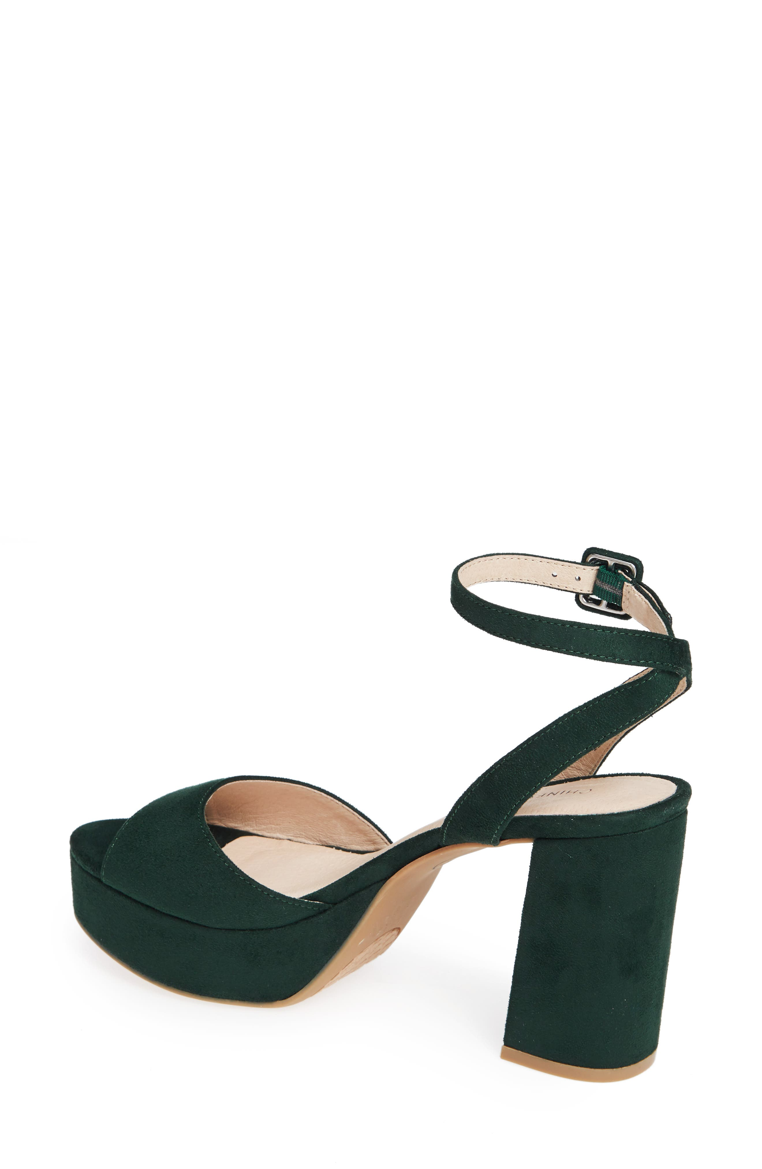 CHINESE LAUNDRY, Theresa Platform Sandal, Alternate thumbnail 2, color, FOREST GREEN SUEDE