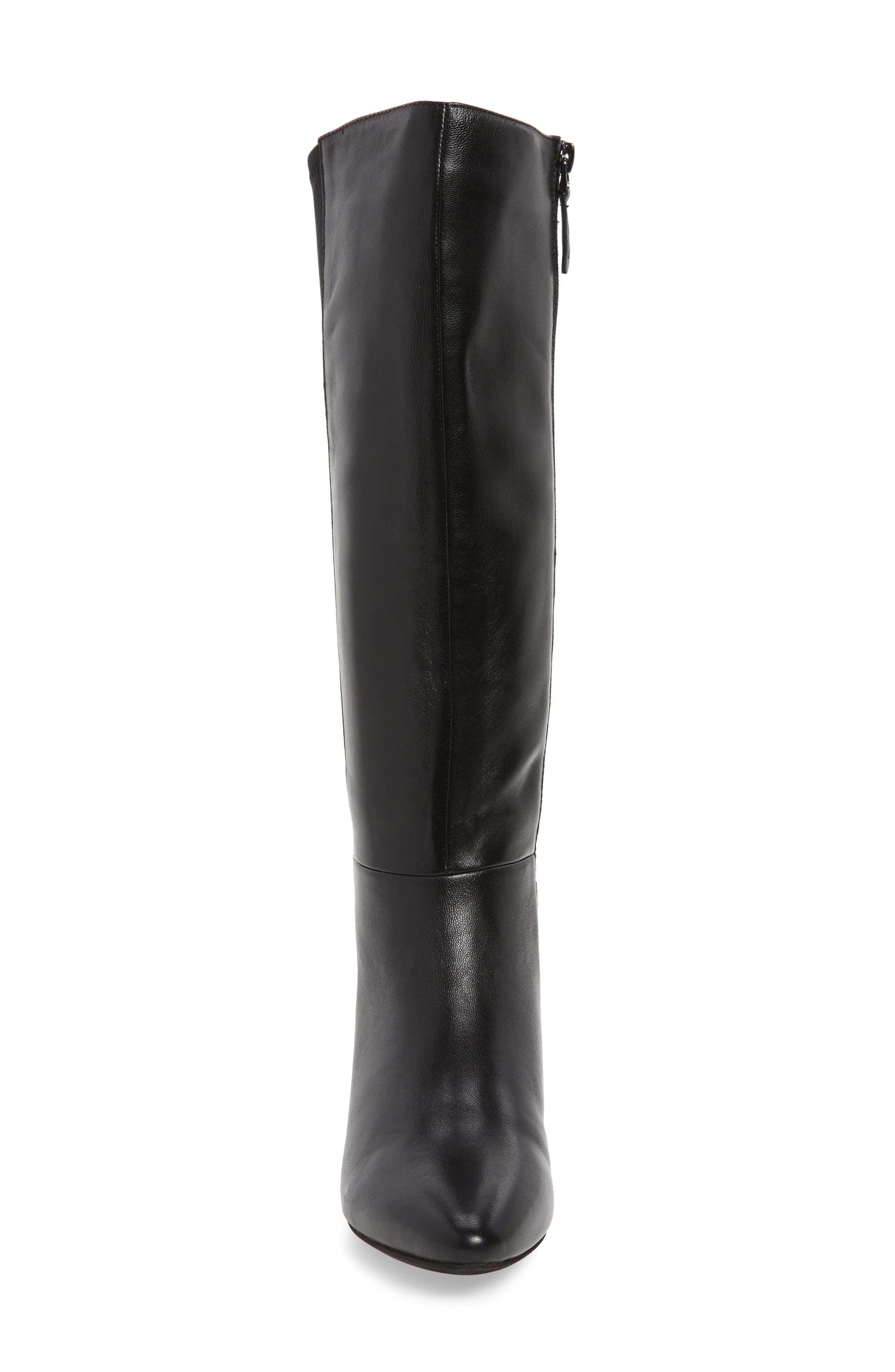 SUDINI, Beverly Stretch Back Knee High Boot, Alternate thumbnail 4, color, BLACK