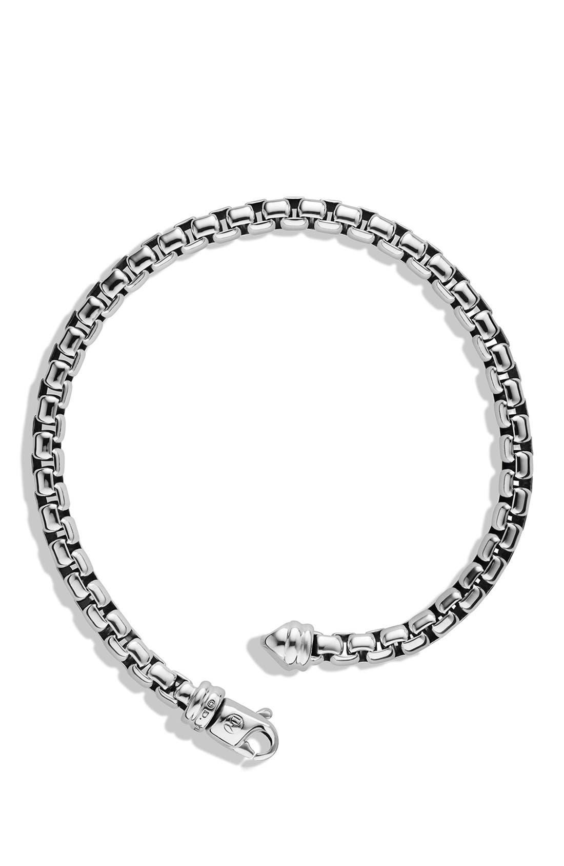 DAVID YURMAN, 'Chain' Large Link Box Chain Bracelet, Alternate thumbnail 3, color, SILVER
