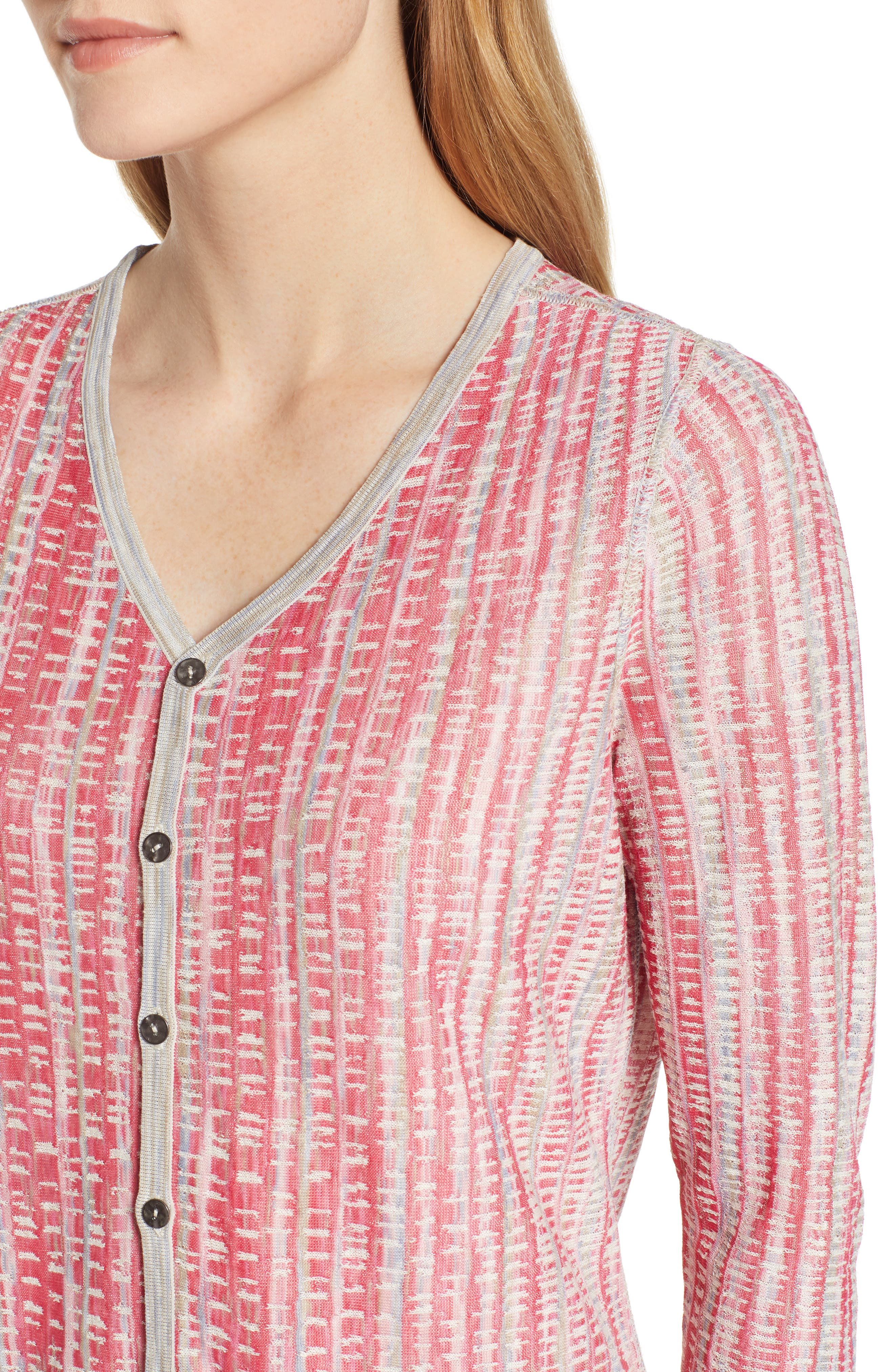 NIC+ZOE, Tubular Sunset Cardigan, Alternate thumbnail 5, color, MULTI