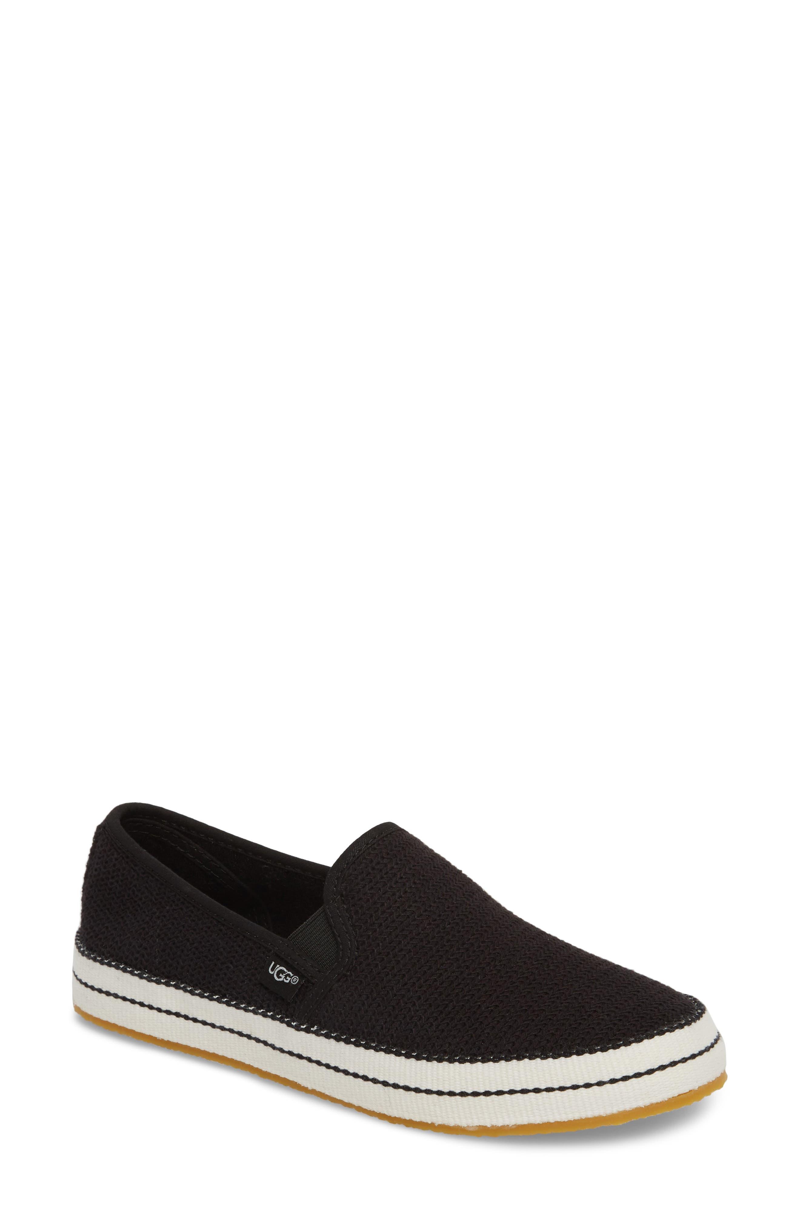 UGG<SUP>®</SUP> Bren Slip-On Sneaker, Main, color, BLACK