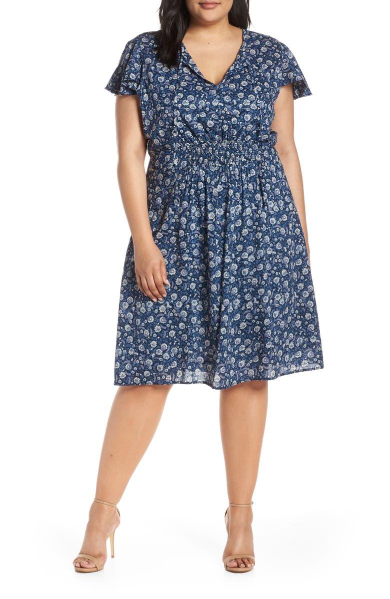 Lucky Brand Dresses OLIVIA SMOCKED WAIST DRESS