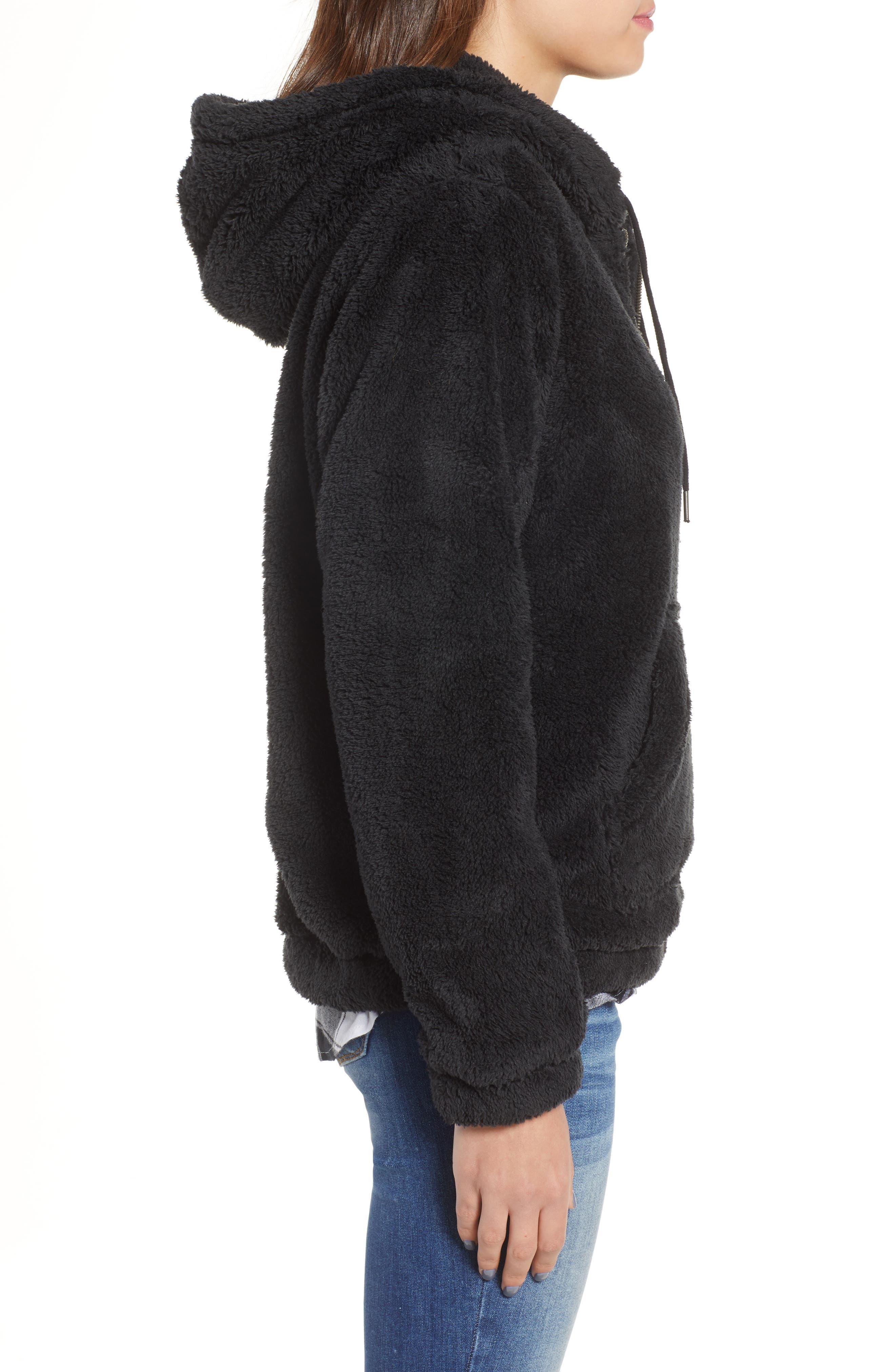 BILLABONG, Cozy For Keeps Fleece Pullover, Alternate thumbnail 4, color, 001