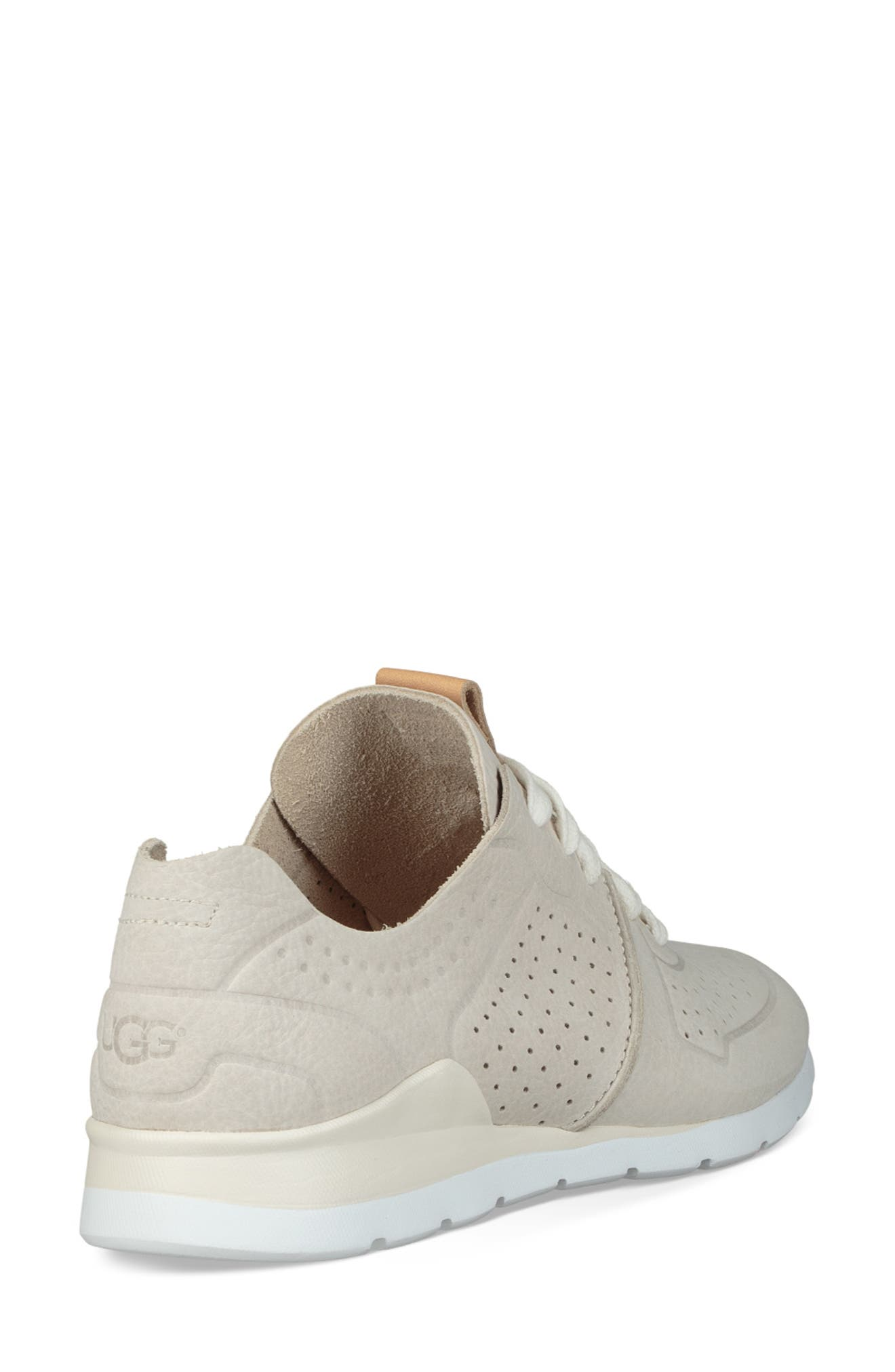 UGG<SUP>®</SUP>, Tye Sneaker, Alternate thumbnail 2, color, COCONUT MILK LEATHER
