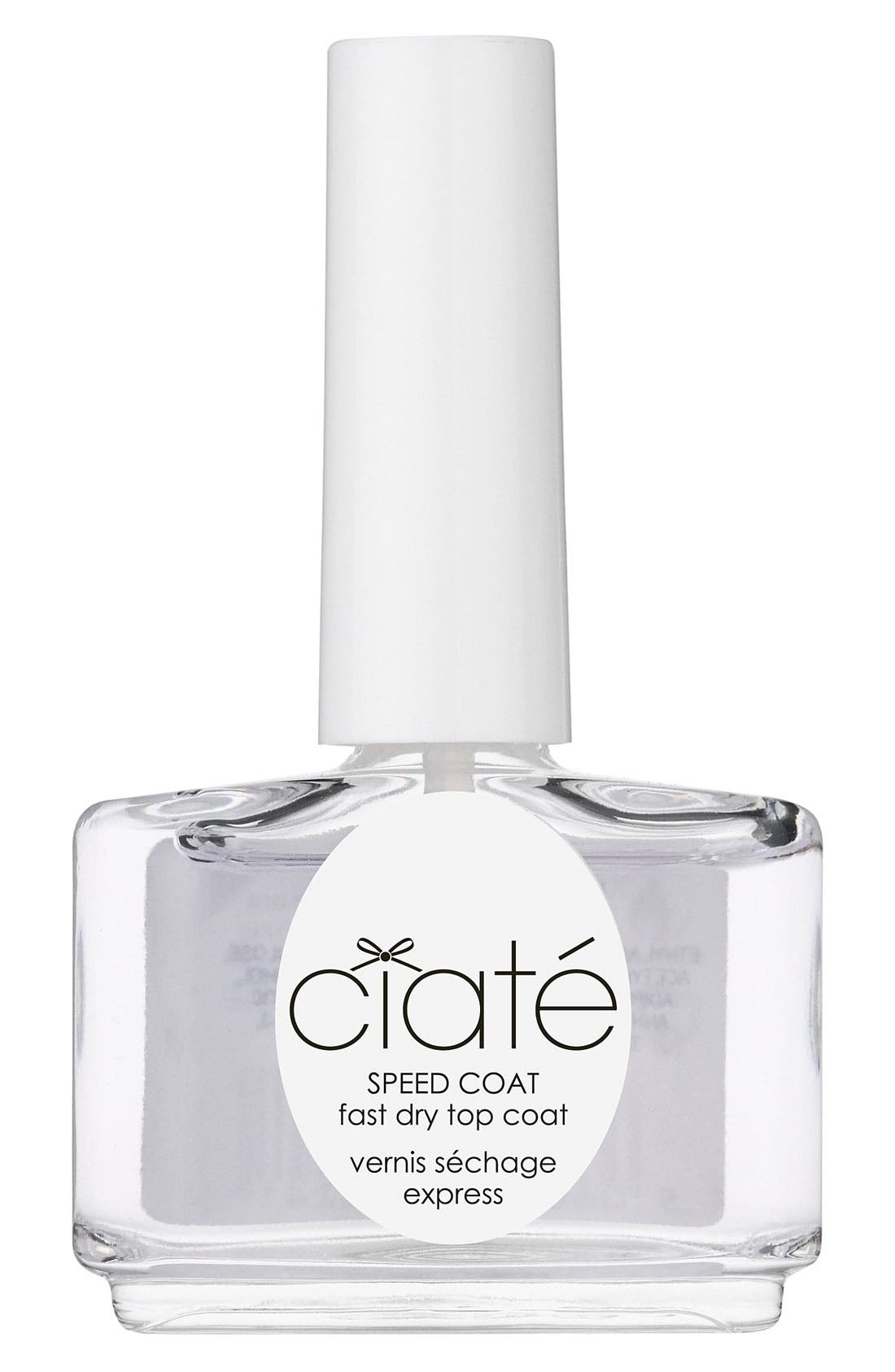 CIATÉ, 'Speed Coat' Fast Dry Top Coat, Main thumbnail 1, color, 000