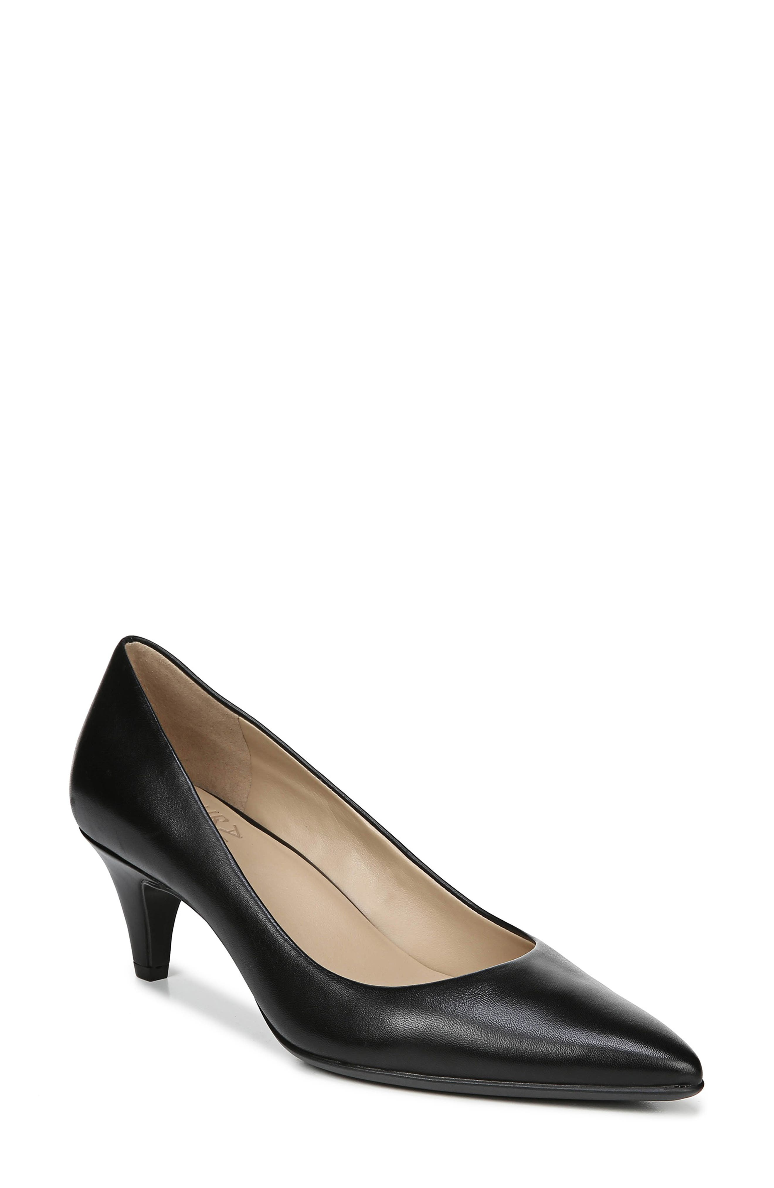 NATURALIZER, Beverly Pump, Main thumbnail 1, color, BLACK LEATHER