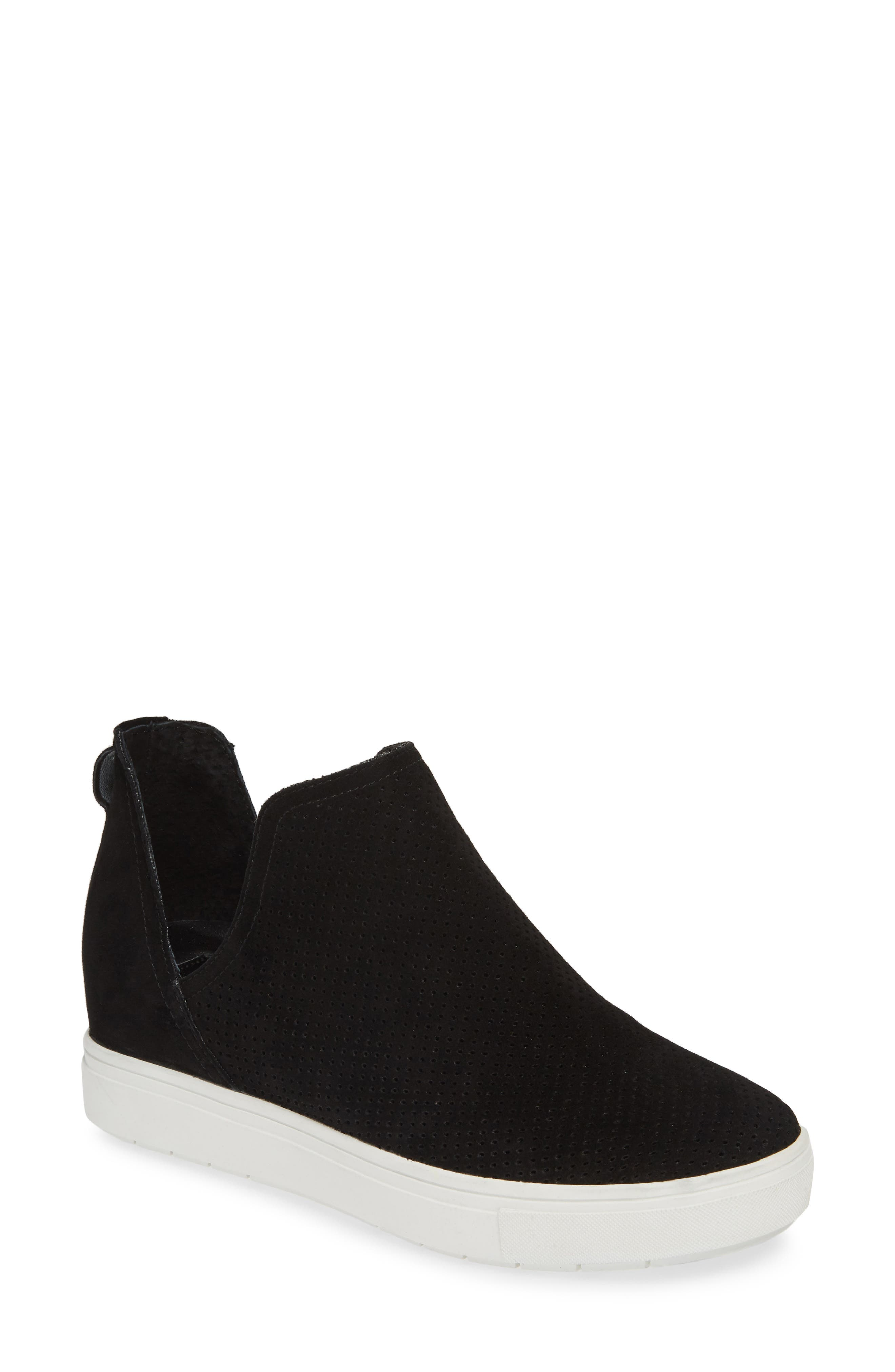 STEVEN BY STEVE MADDEN, Canares High Top Sneaker, Main thumbnail 1, color, BLACK SUEDE