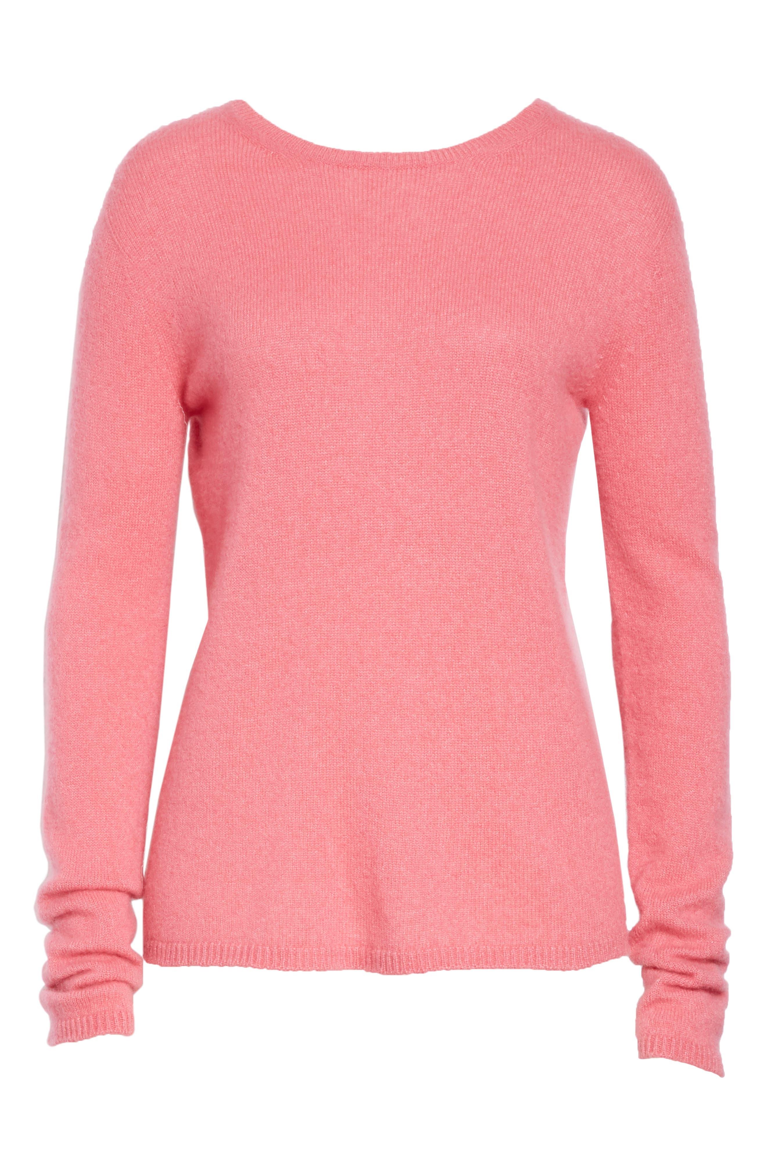 MAX MARA, Stelvio Cashmere & Silk Sweater, Alternate thumbnail 6, color, 672