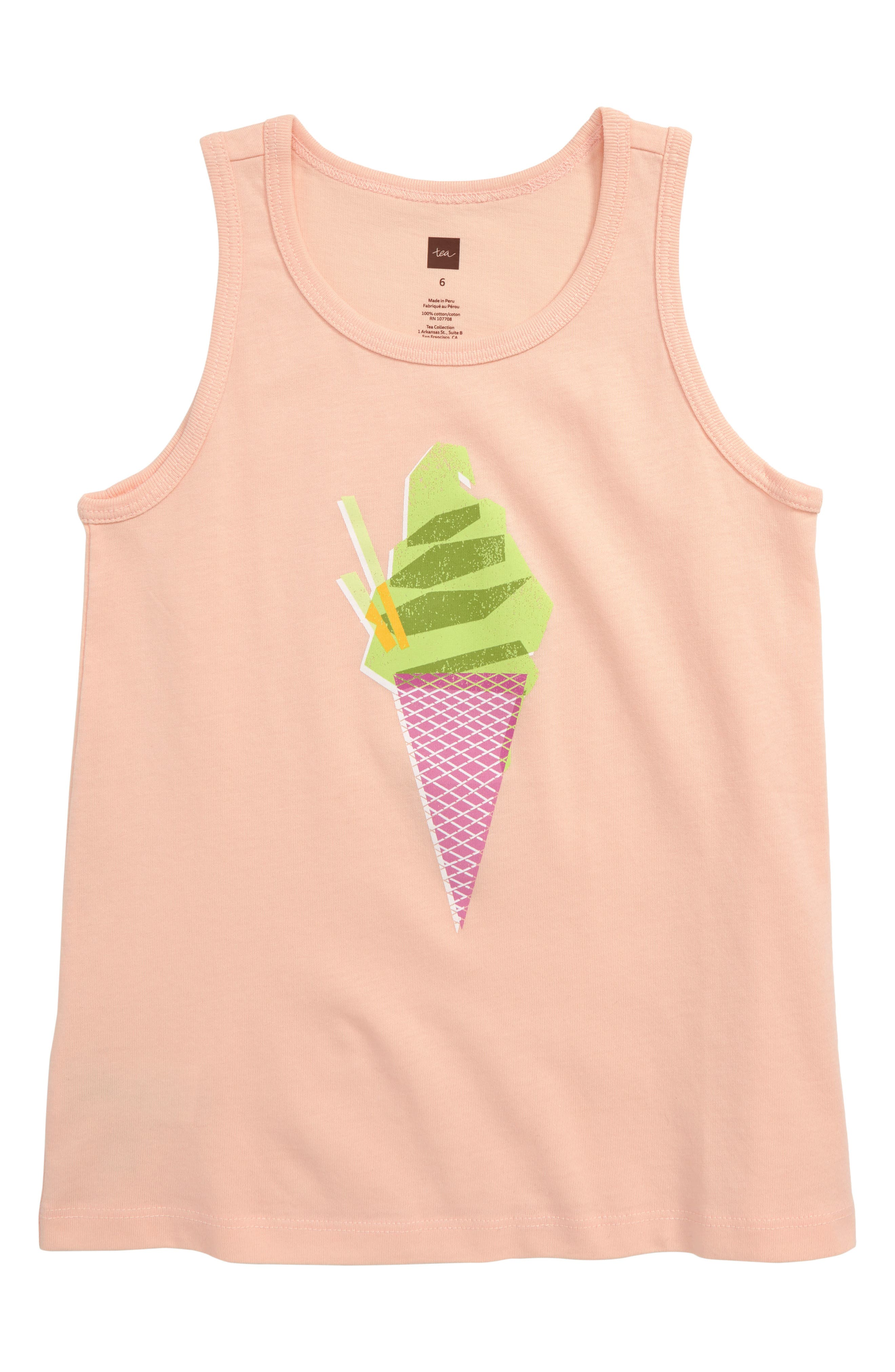 Toddler Girls Tea Collection Ice Cream Graphic Tank Size 2T  Pink