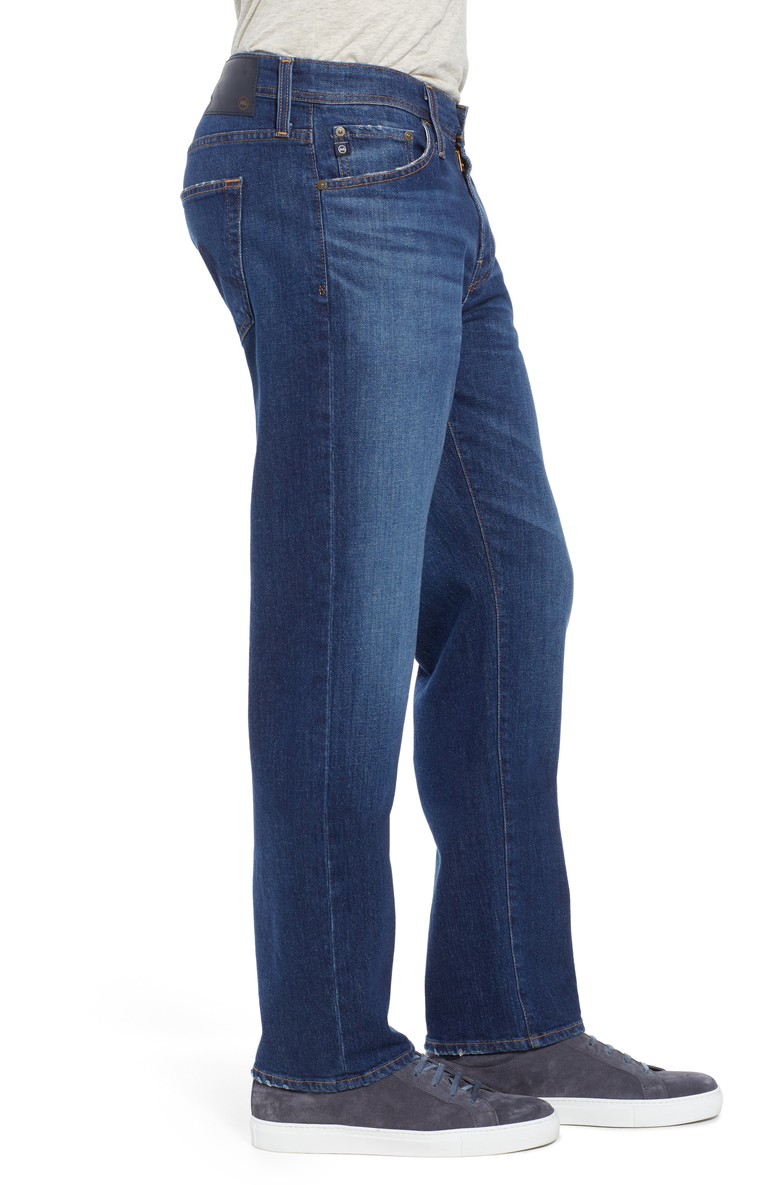 AG, Graduate Slim Straight Leg Jeans, Alternate thumbnail 4, color, RECRUIT