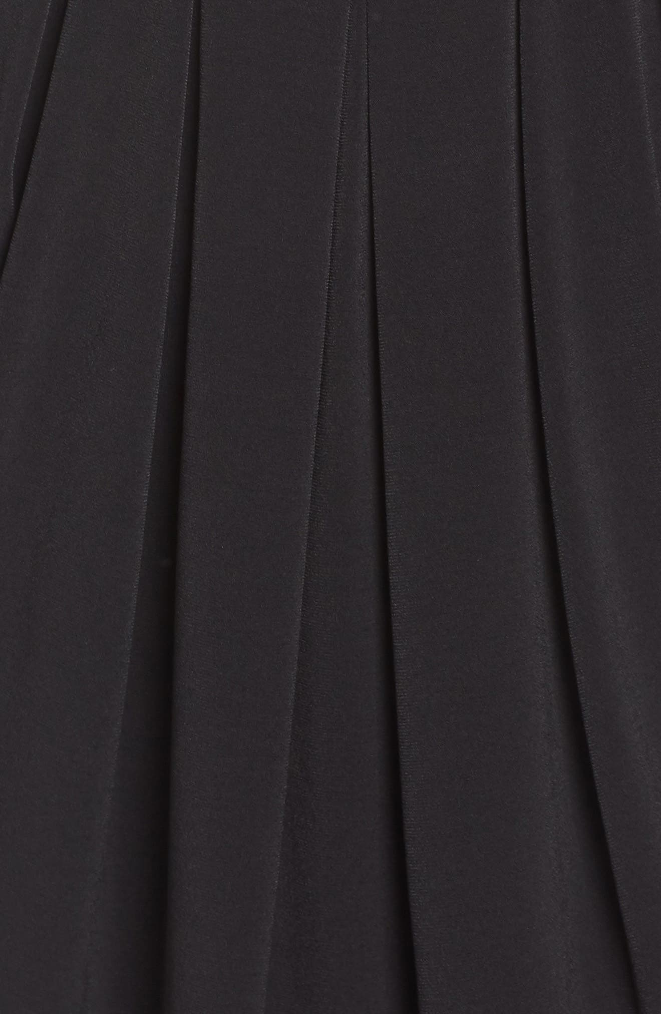 ELIZA J, Bell Sleeve Knit Sheath Dress, Alternate thumbnail 6, color, BLACK