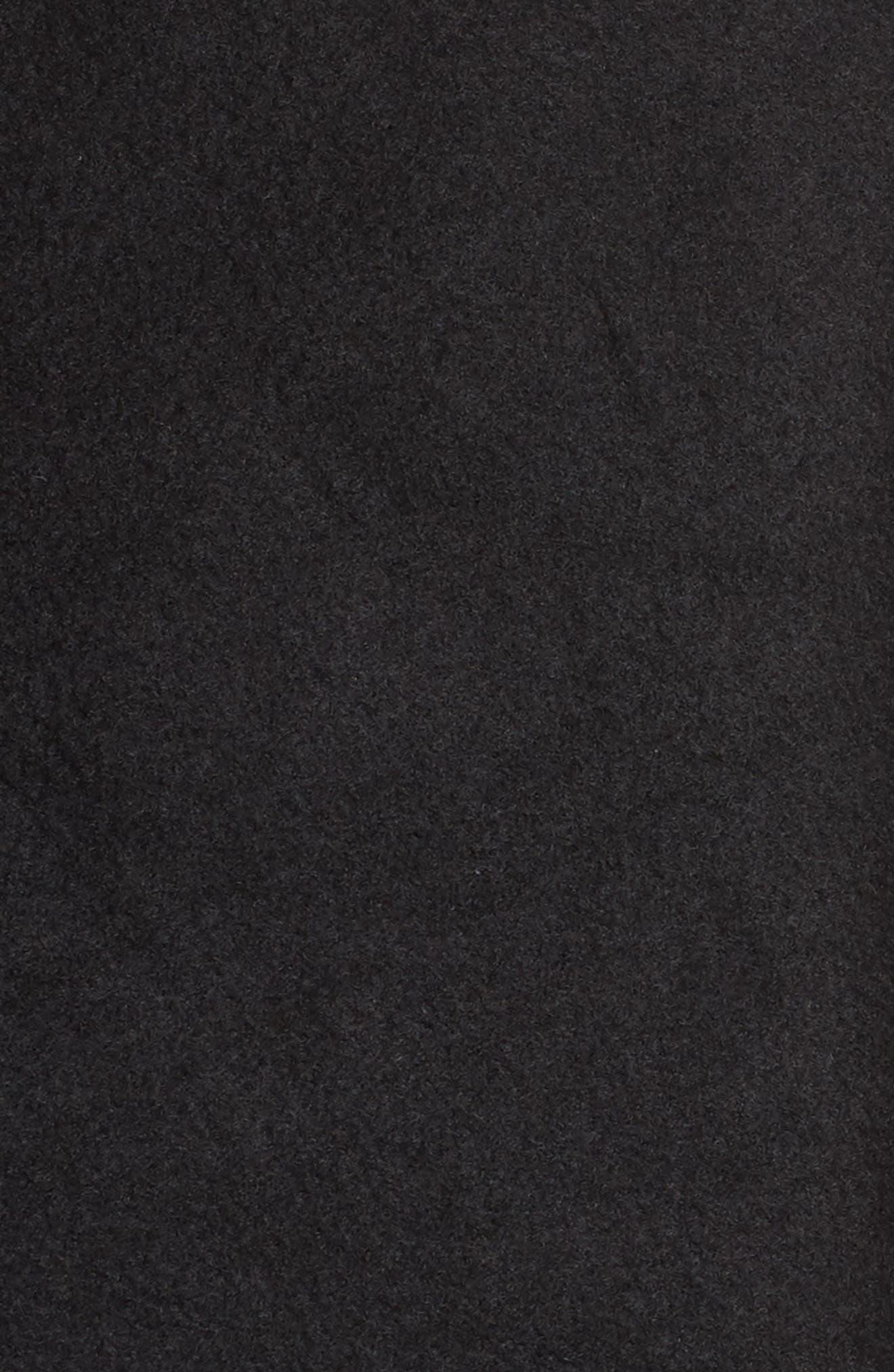 UGG<SUP>®</SUP>, Janni Fleece Cardigan, Alternate thumbnail 5, color, BLACK