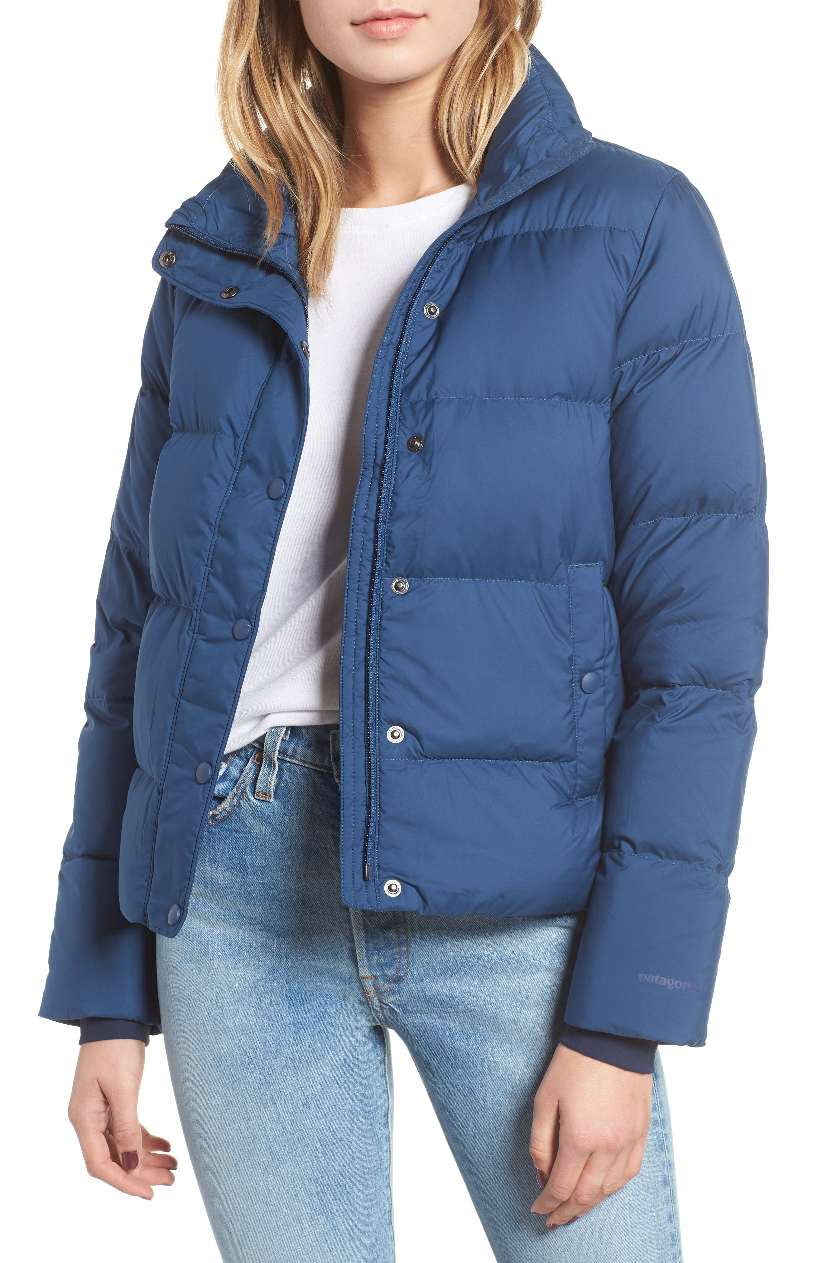 Patagonia Silent Water Repellent 700-Fill Power Down Insulated Jacket, Blue
