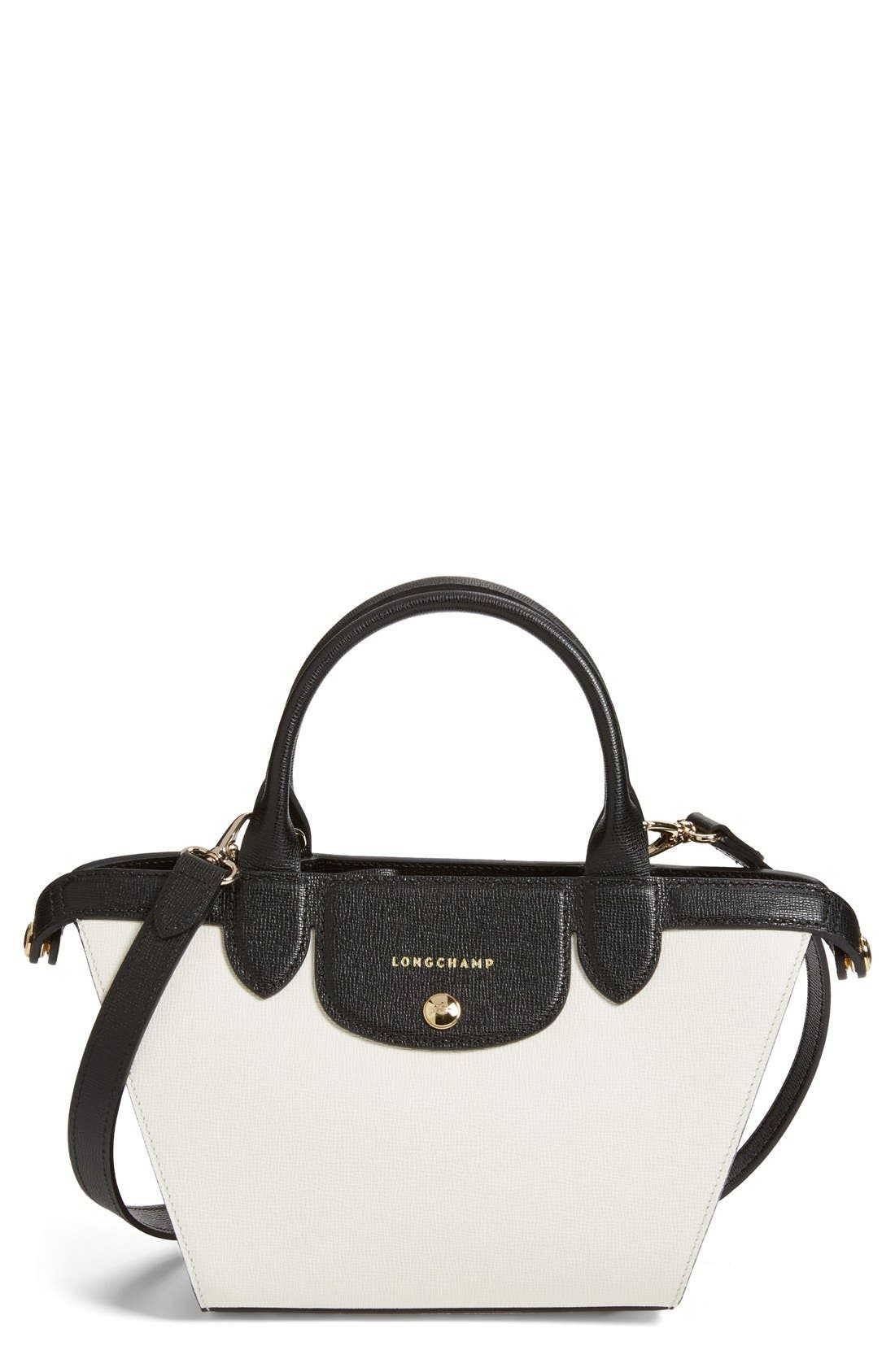 LONGCHAMP 'Small Le Pliage - Heritage' Leather Handbag, Main, color, 100
