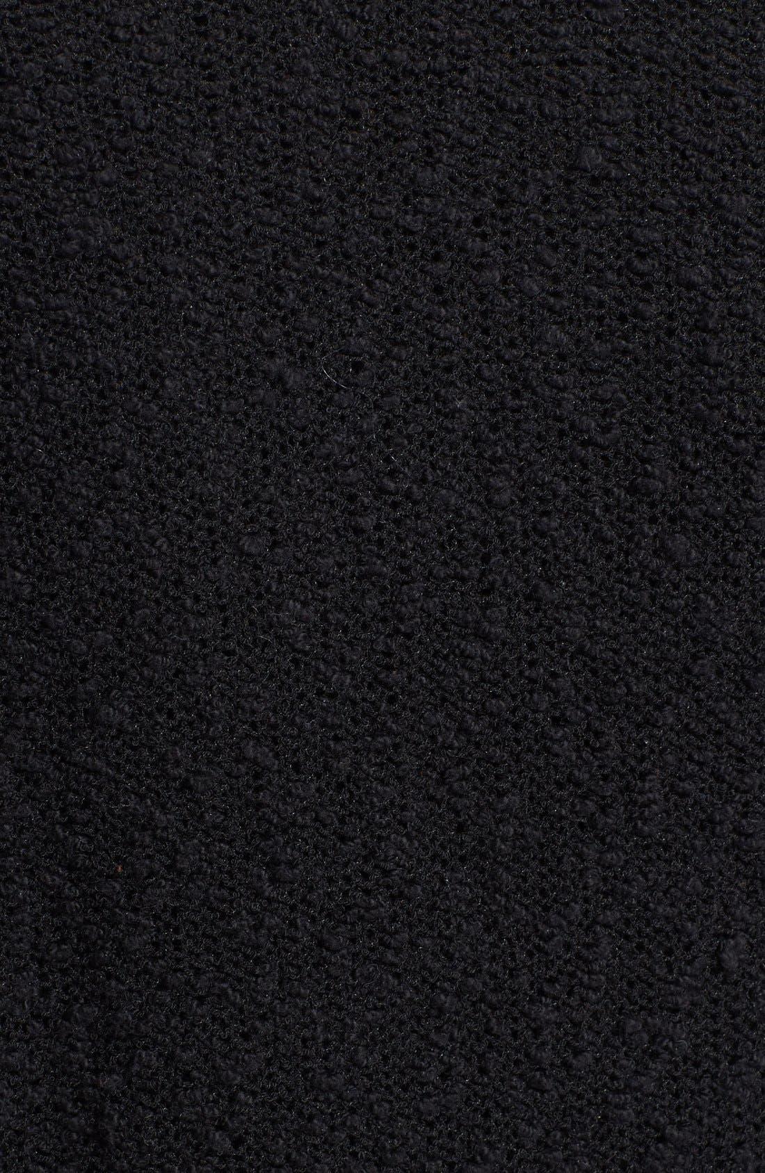 TILDON, Textured Open Front Cardigan, Alternate thumbnail 5, color, 001