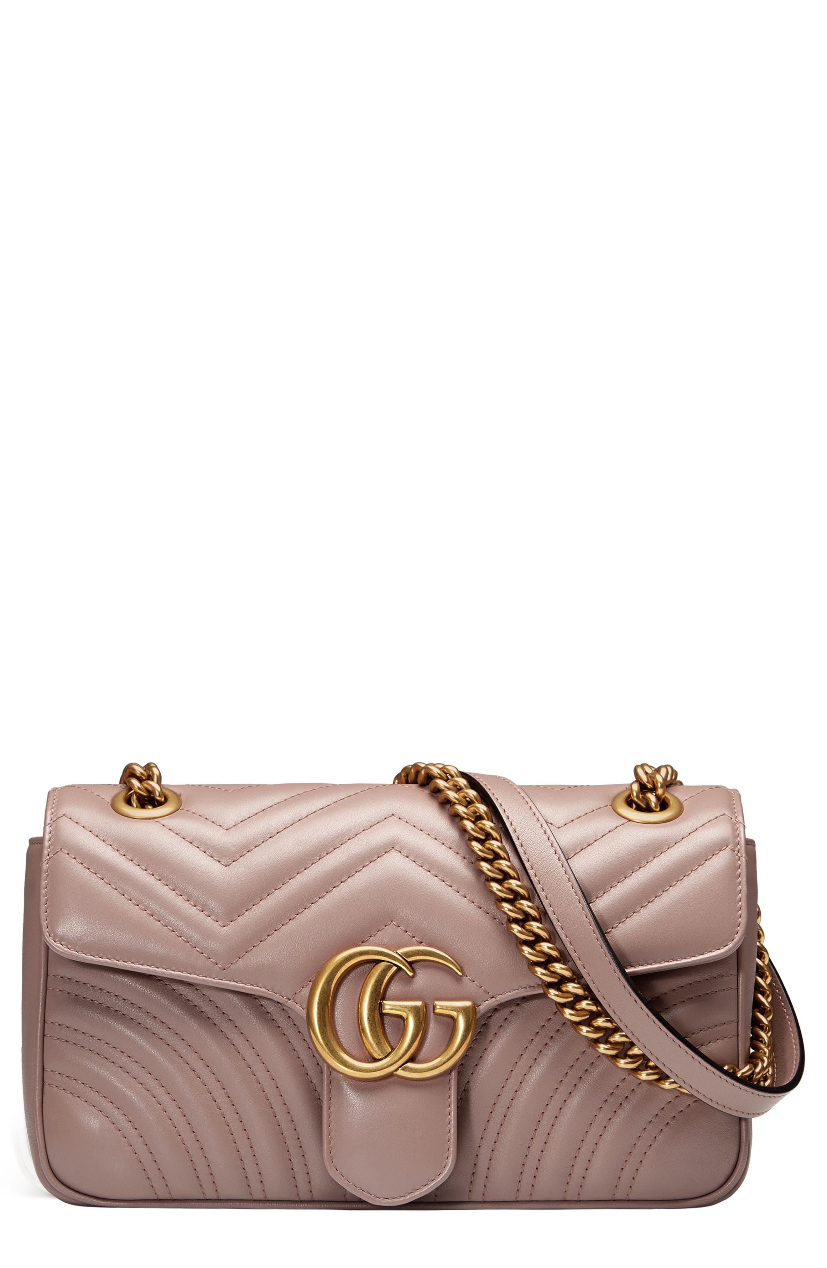 GUCCI Small GG Marmont 2.0 Matelassé Leather Shoulder Bag, Main, color, PORCELAIN ROSE/ PORCELAIN ROSE