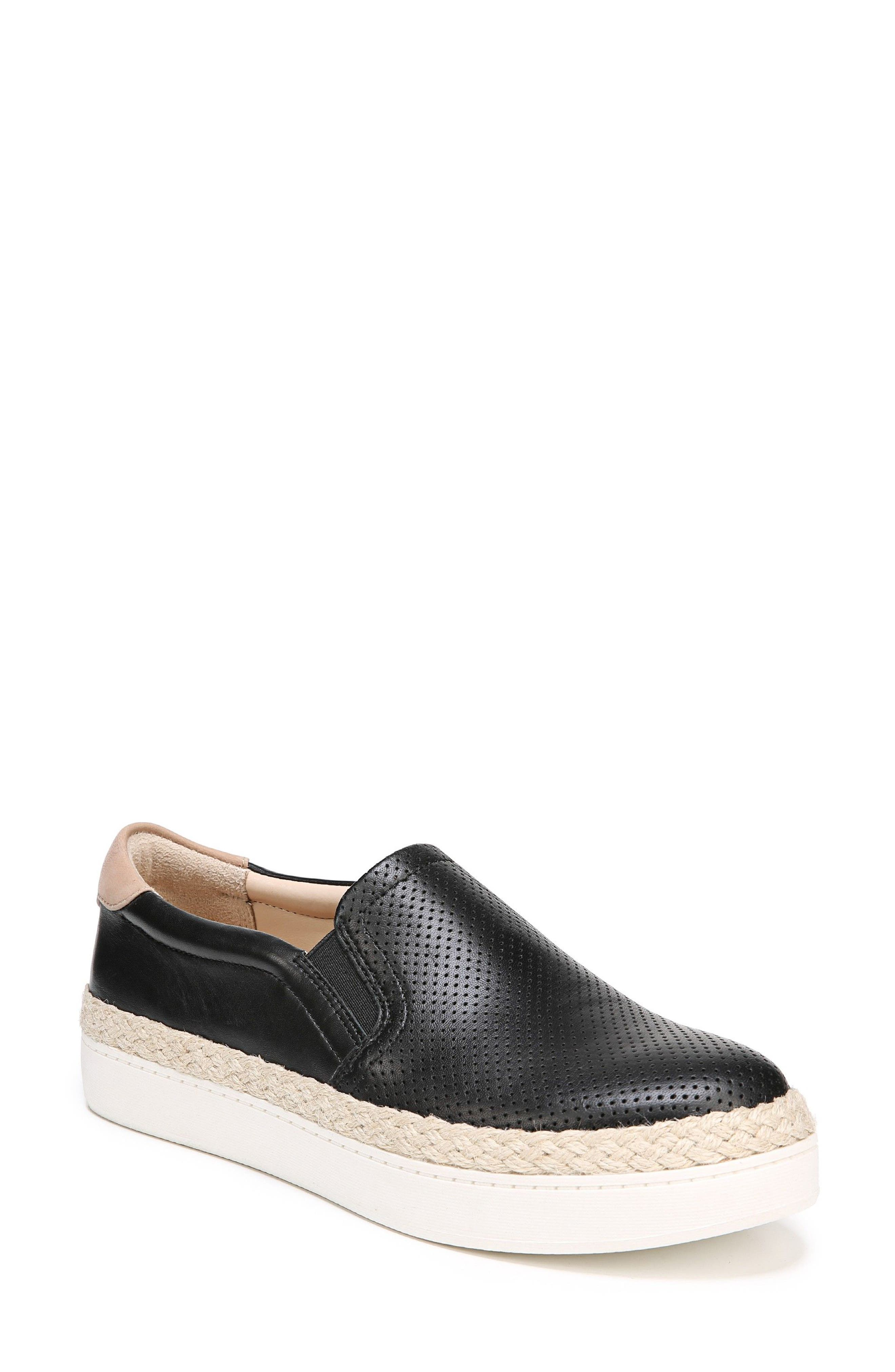 DR. SCHOLL'S Scout Slip-On Sneaker, Main, color, BLACK LEATHER
