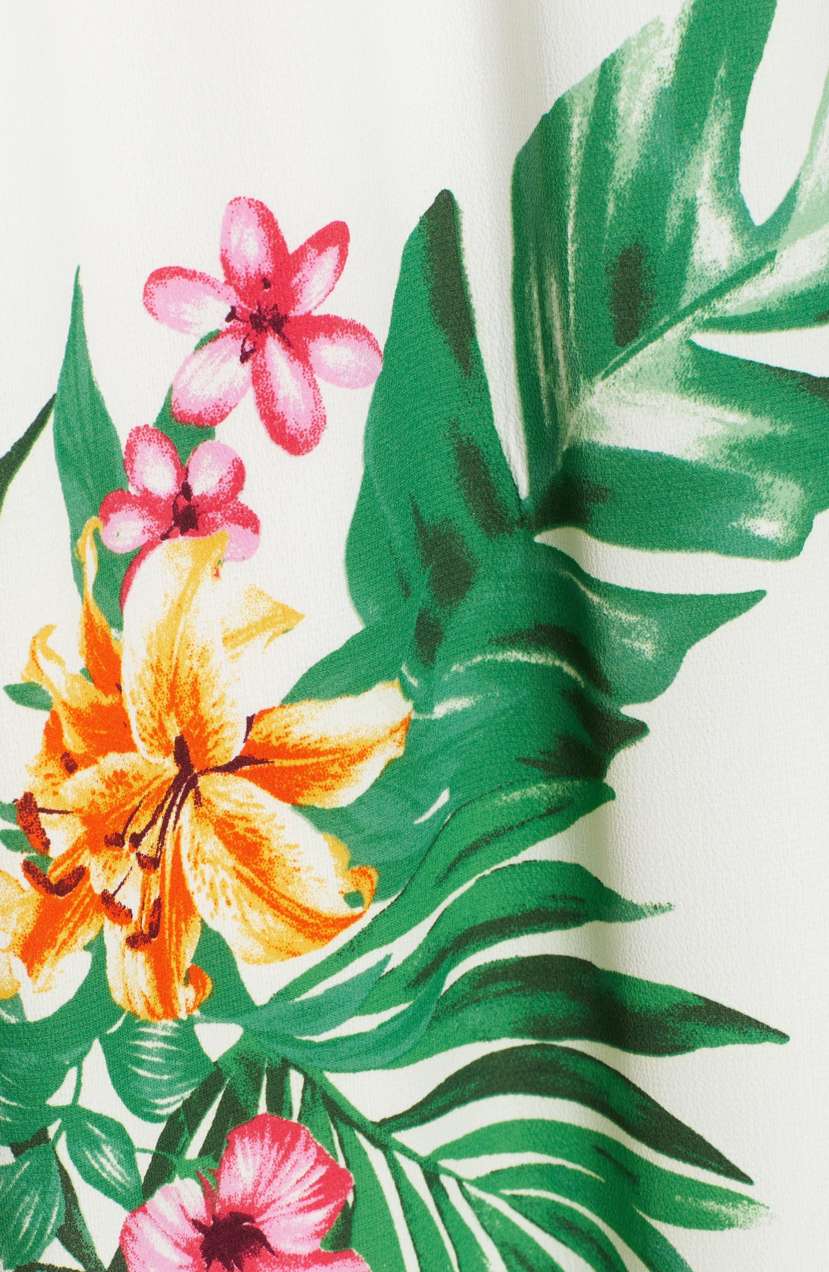GIBSON, x Hi Sugarplum! Palm Springs Festival Maxi Dress, Alternate thumbnail 5, color, BIRD OF PARADISE
