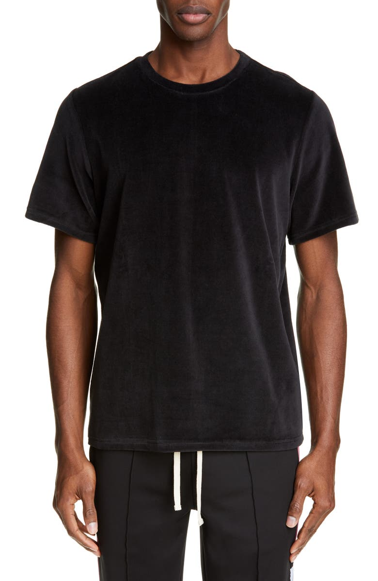 Ovadia & Sons T-shirts VELOUR CREWNECK T-SHIRT