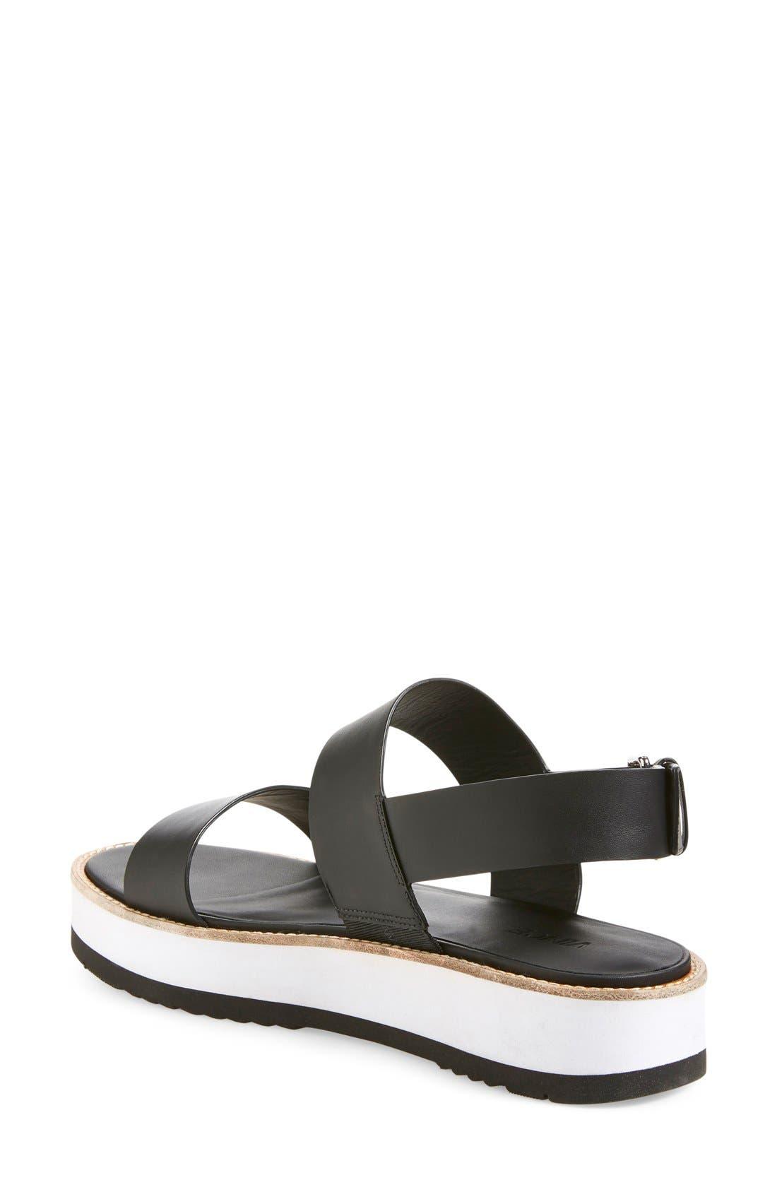 VINCE, 'Mana' Flatform Sandal, Alternate thumbnail 4, color, 001