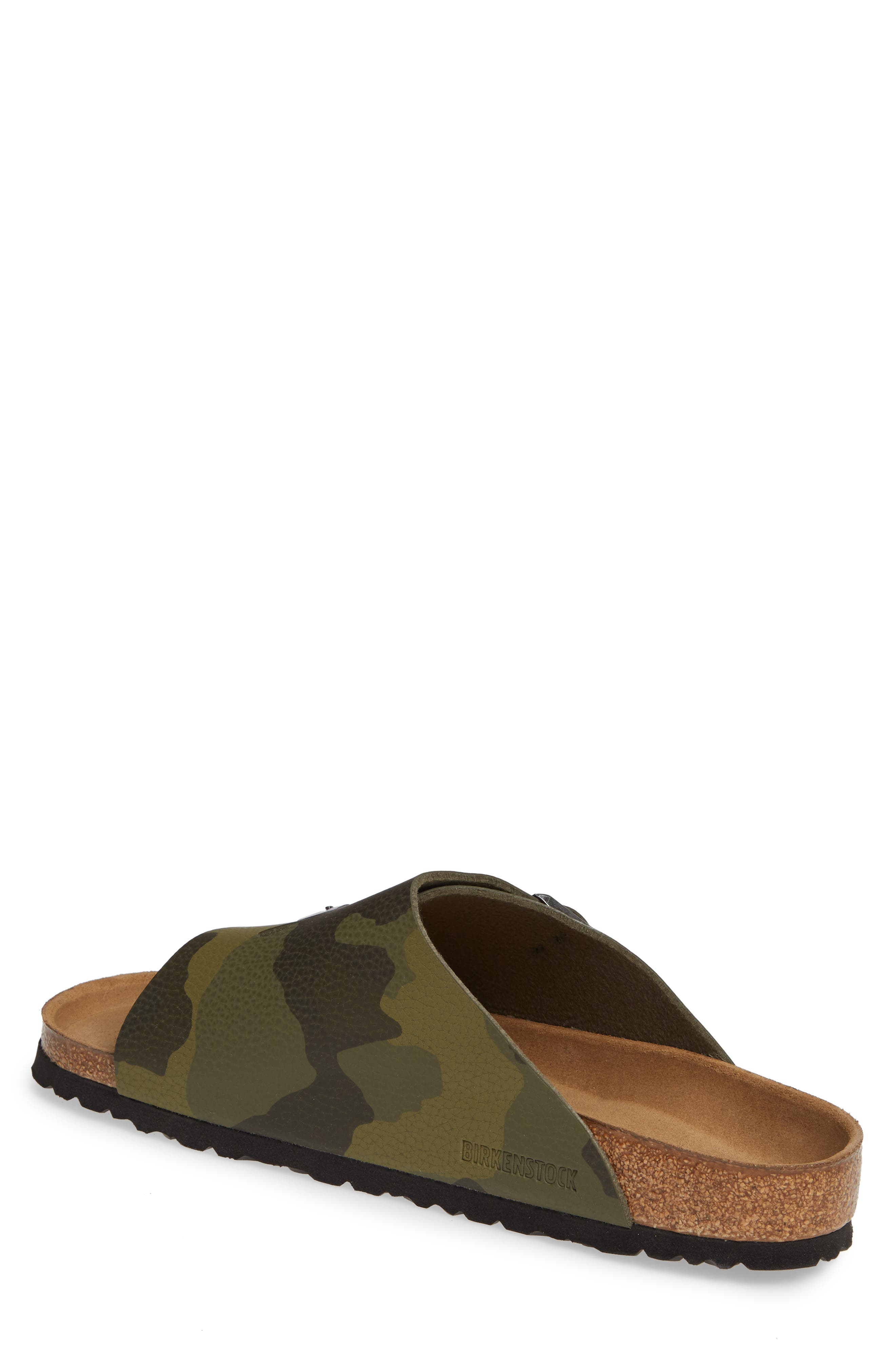 BIRKENSTOCK, Zurich Slide Sandal, Alternate thumbnail 2, color, DESERT CAMO GREEN