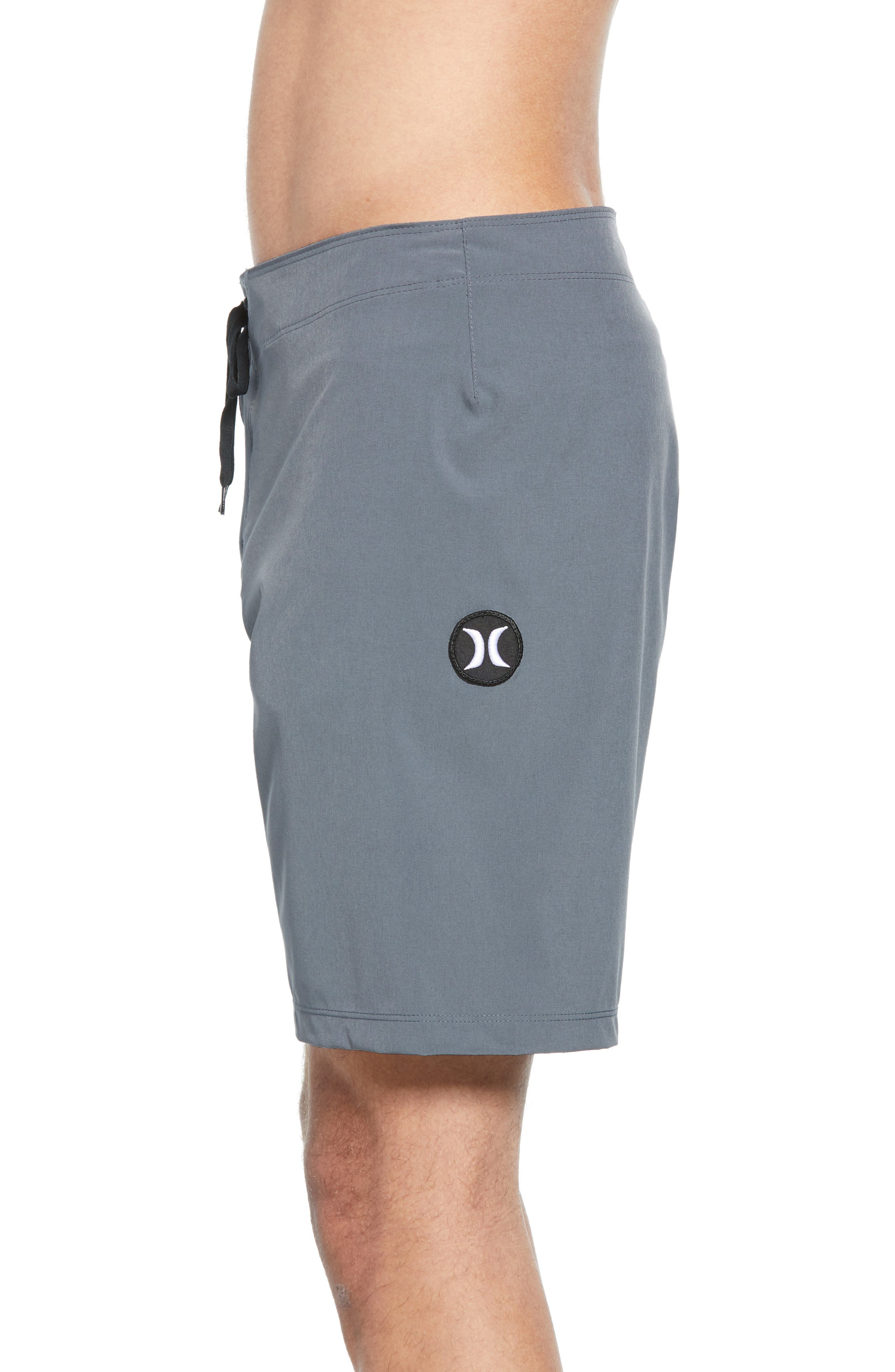 HURLEY, Phantom One & Only Board Shorts, Alternate thumbnail 4, color, COOL GREY