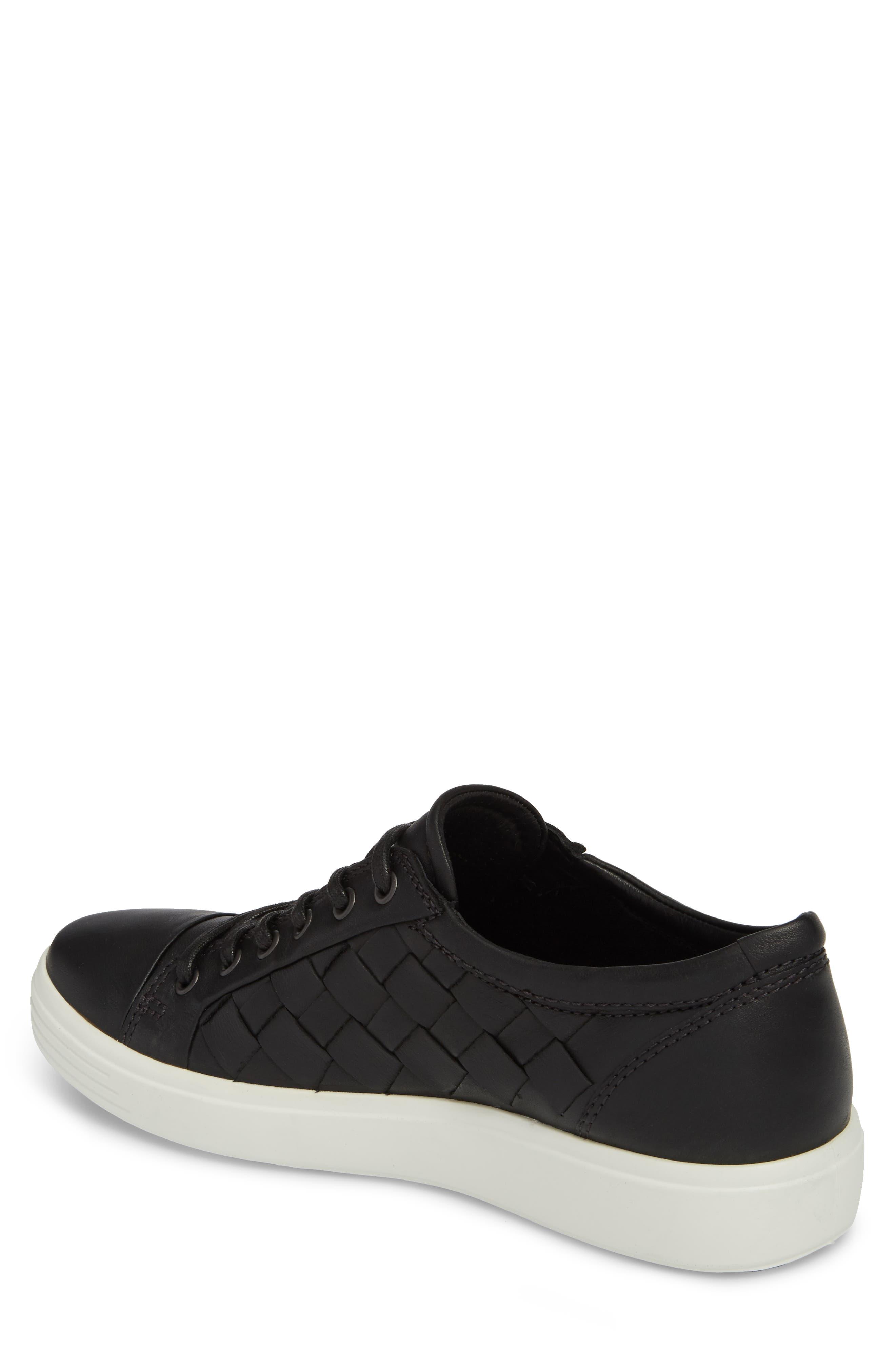 ECCO, Soft 7 Woven Sneaker, Alternate thumbnail 2, color, 009